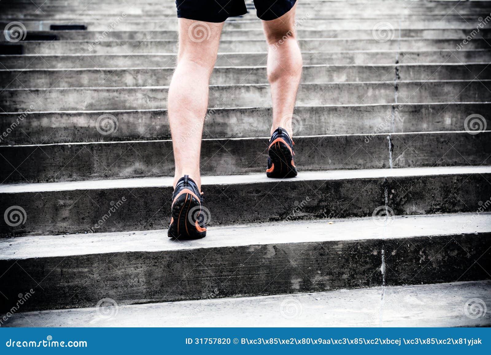 Jogger bieg na schodkach, sportów trenować