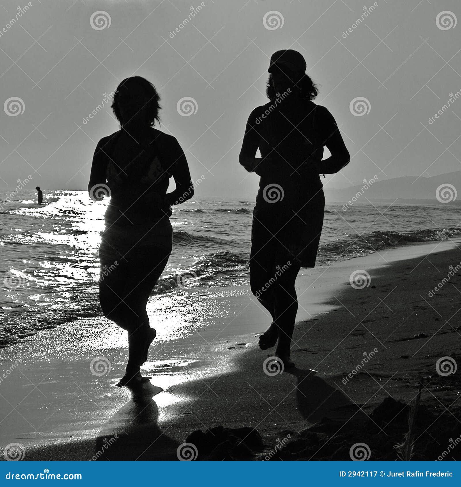 Jogging пляжа