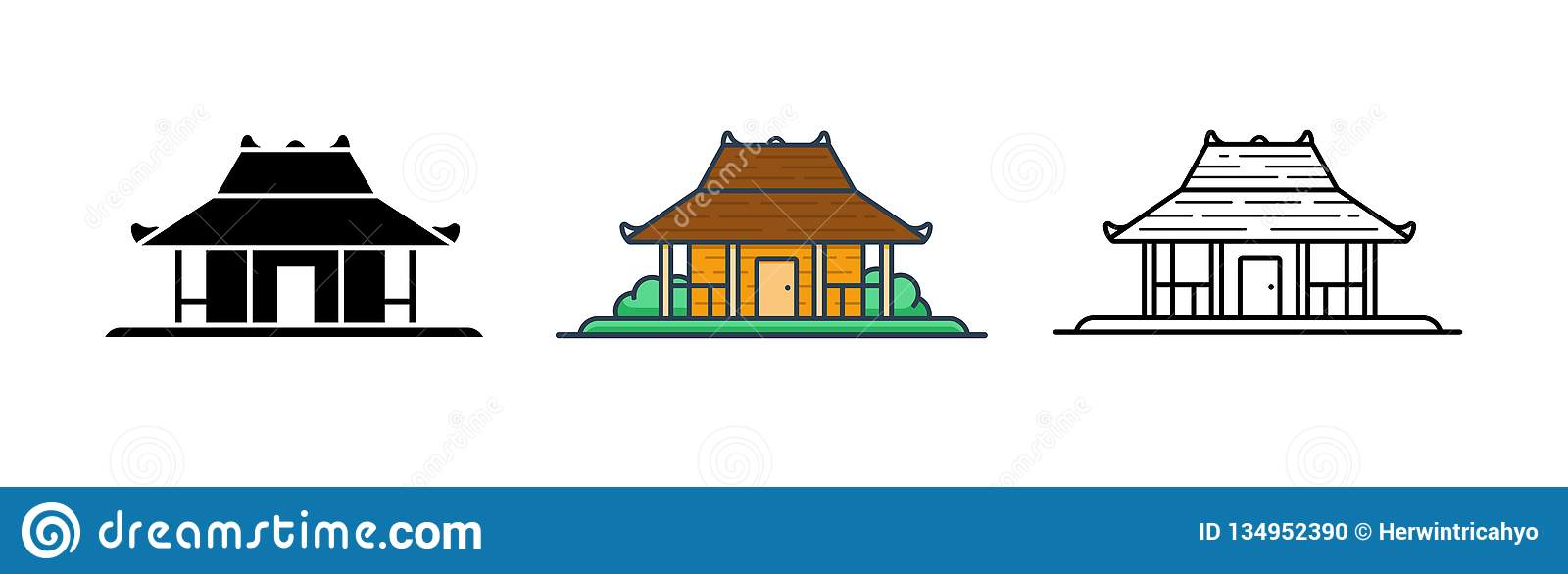 joglo indonesian traditional house vector illustration set stock vector illustration of indonesia javanese 134952390 https www dreamstime com joglo indonesian traditional house vector illustration set joglo indonesian traditional house vector illustration set image134952390