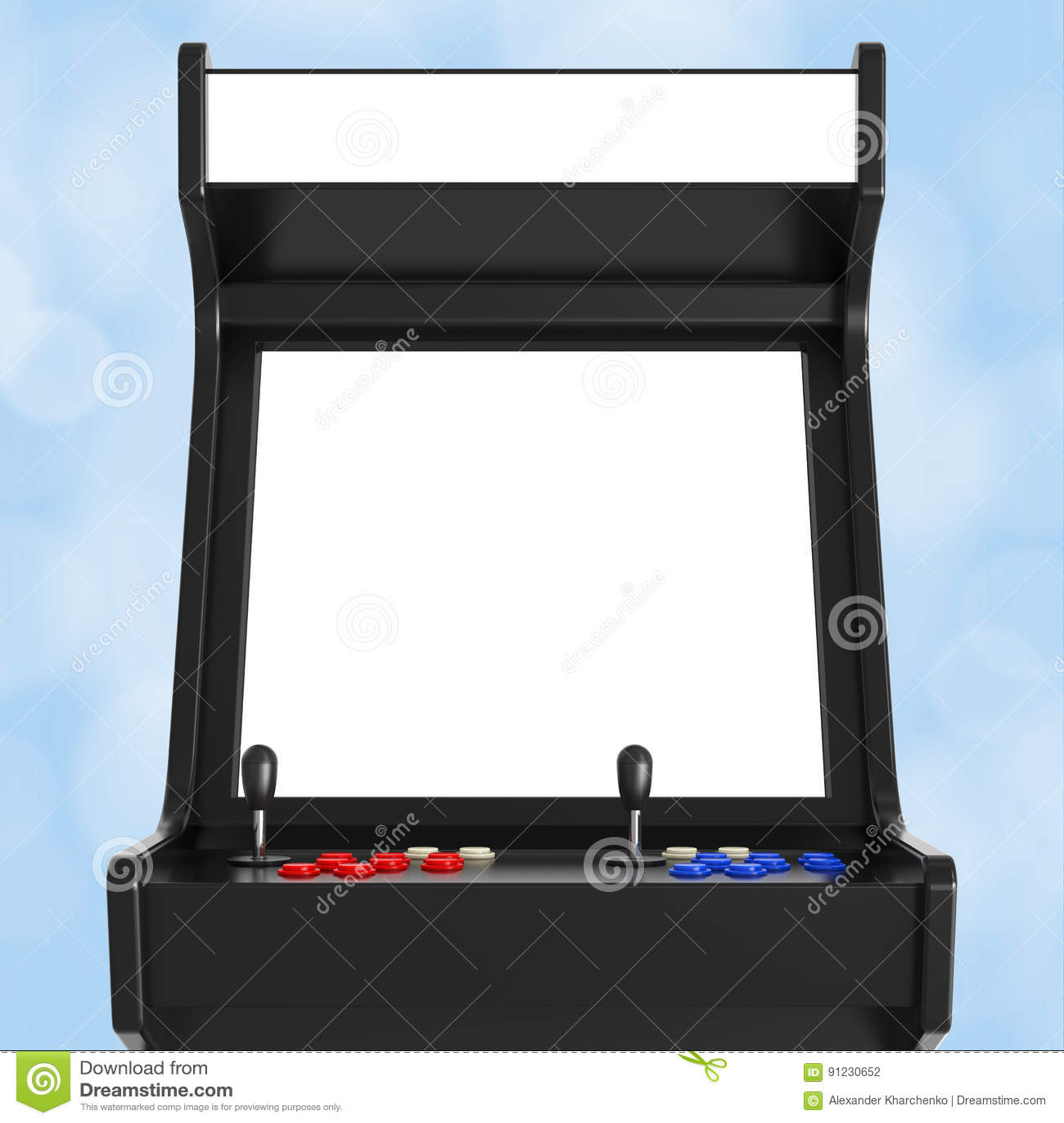 Jogo Arcade Machine com a tela vazia para seu projeto 3d arrancam