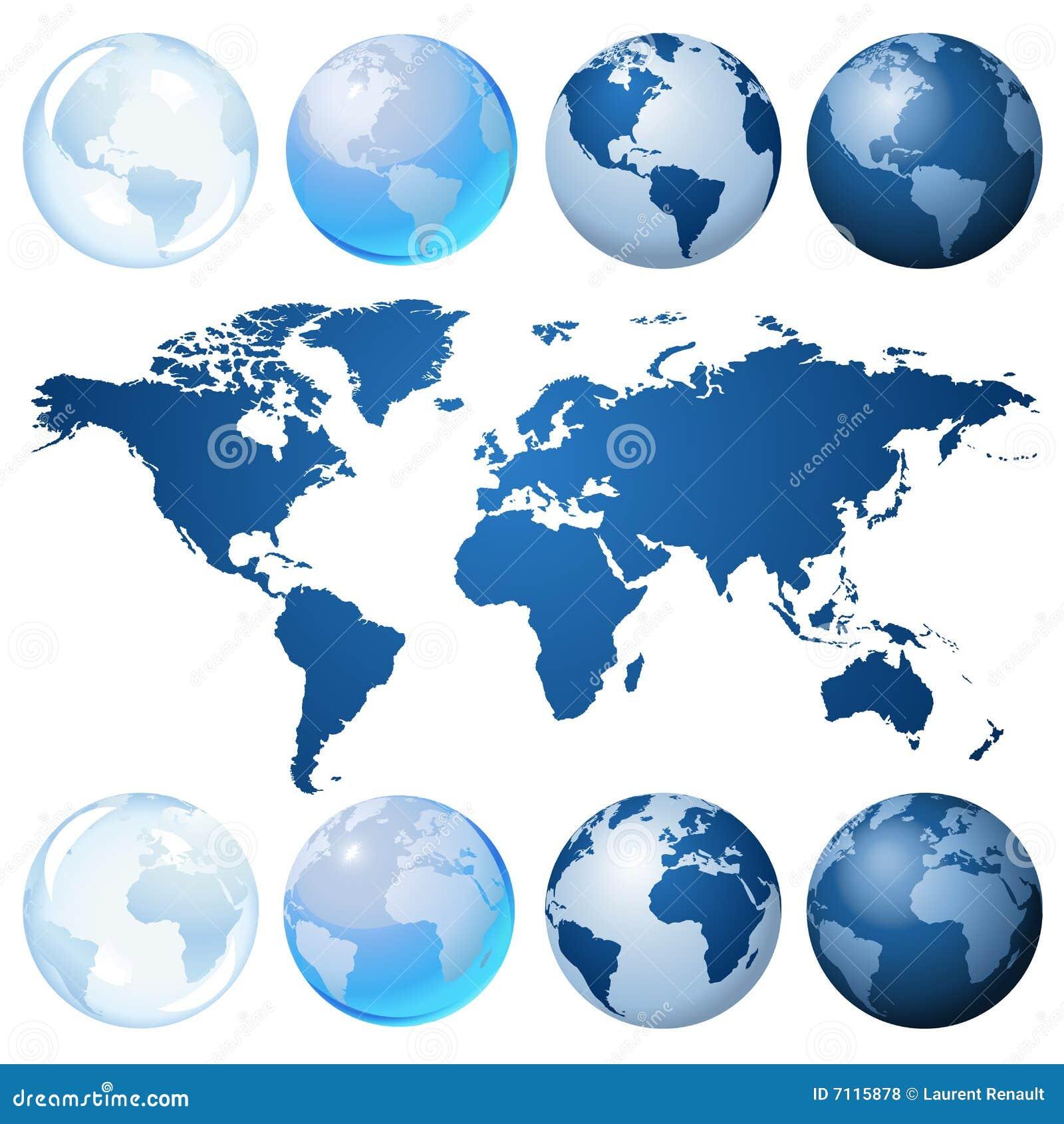 Jogo azul do globo