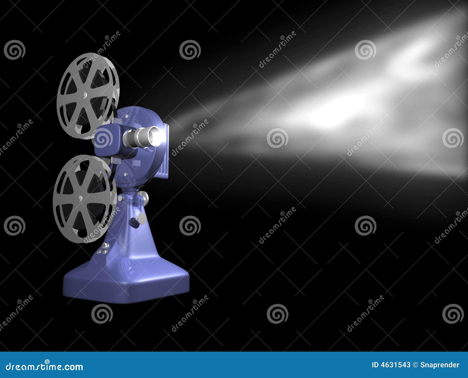 Jogo azul do projetor de película