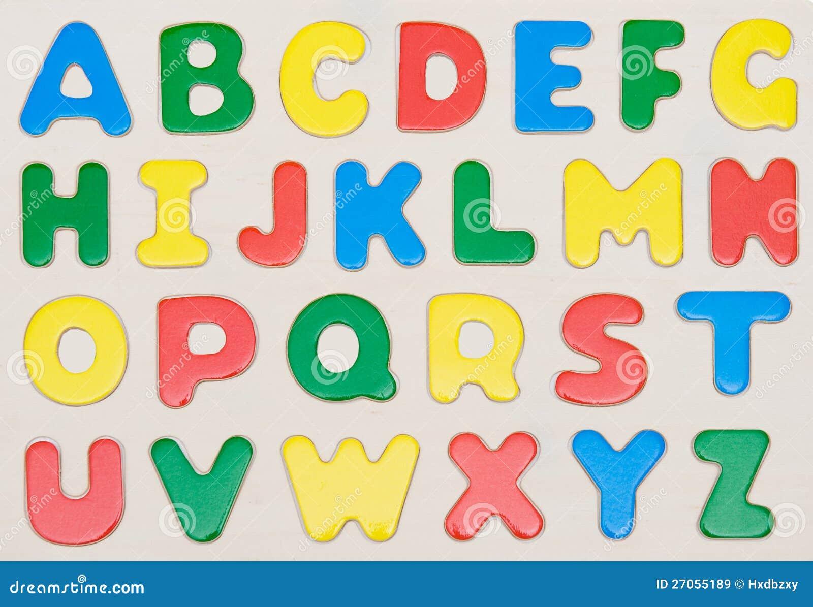 Jogo Colorido Do Alfabeto Imagem De Stock. Imagem De