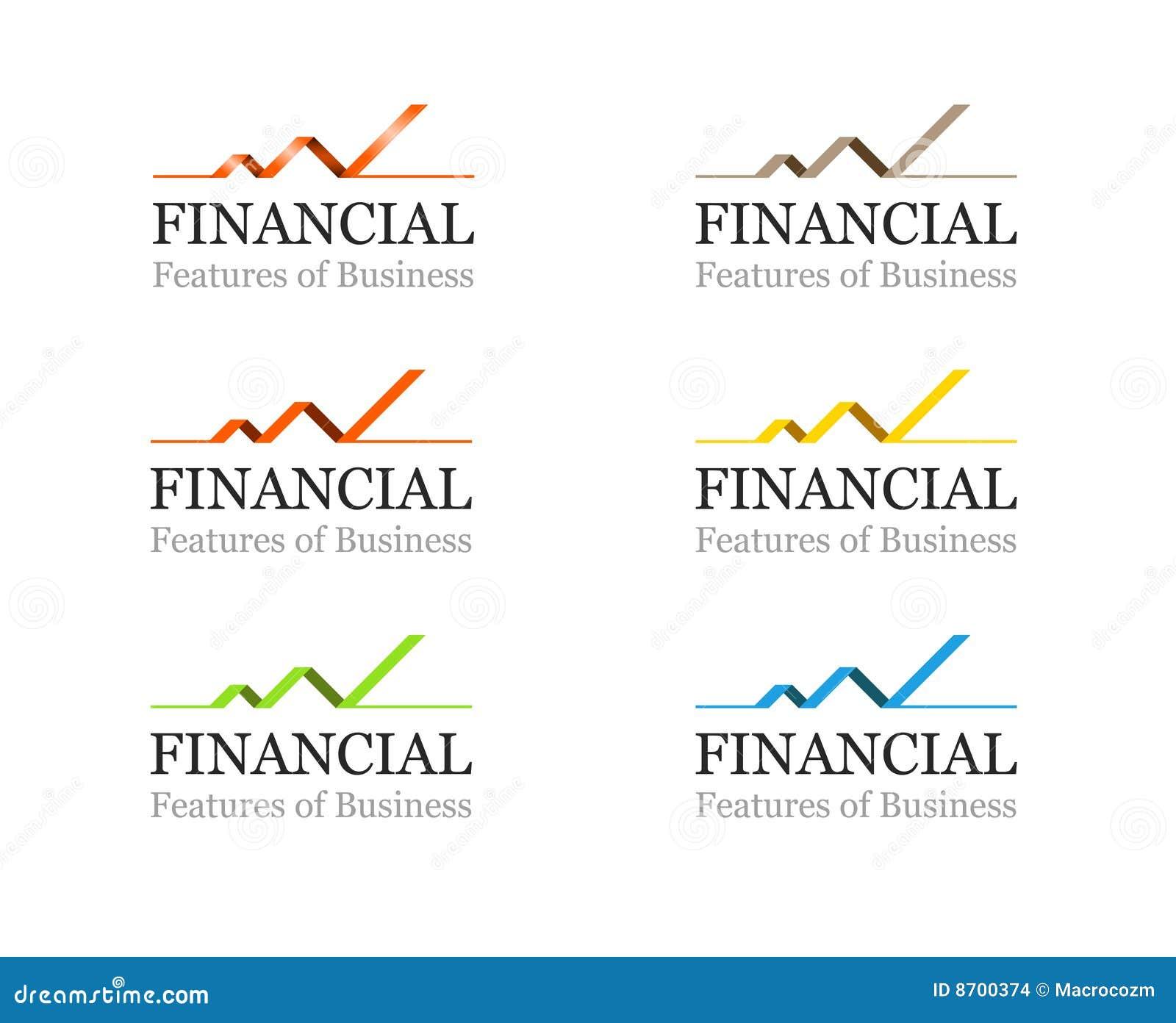 Jogo corporativo financeiro ou do negócio do logotipo do molde