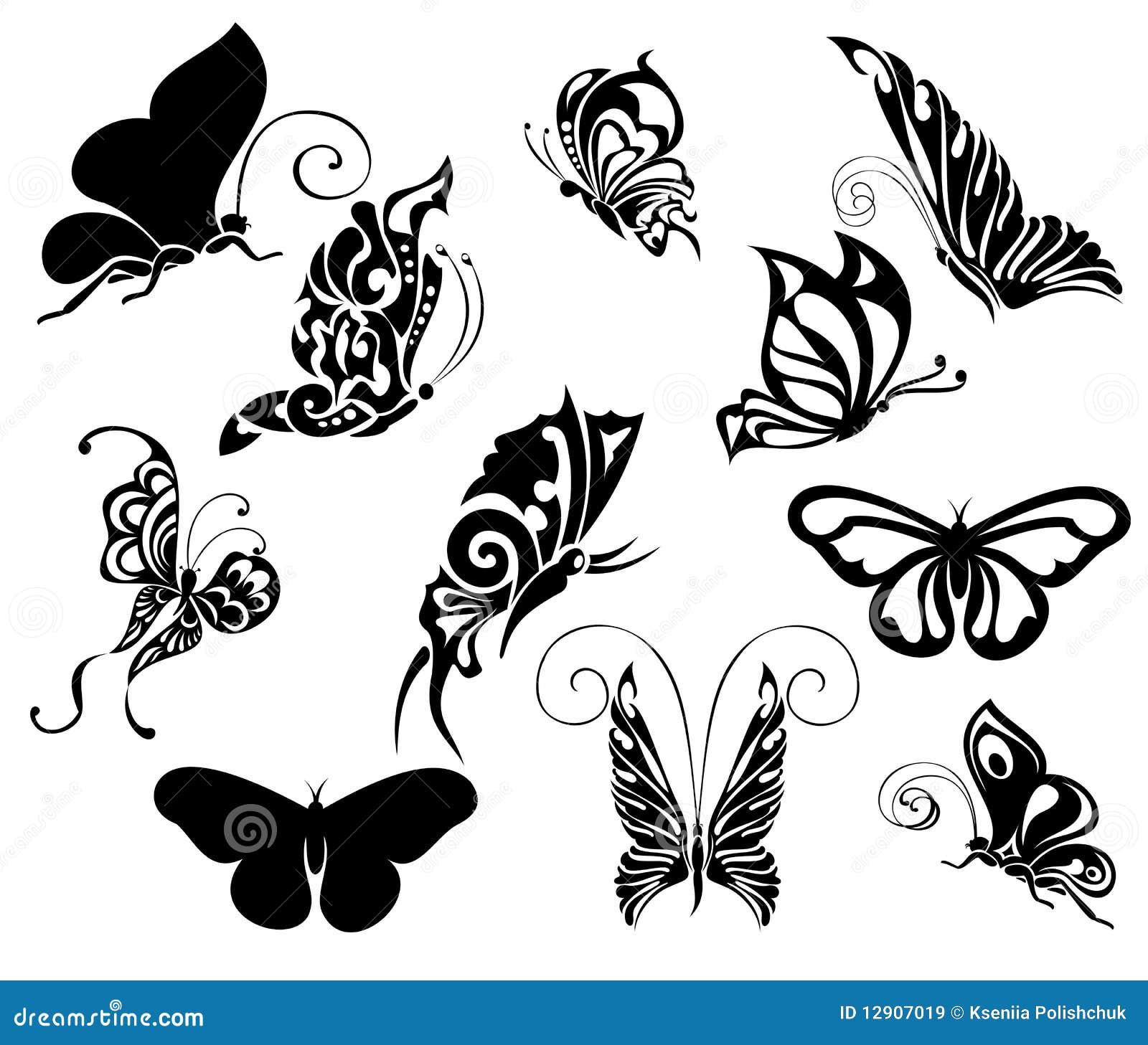 Jogo da borboleta do tatuagem