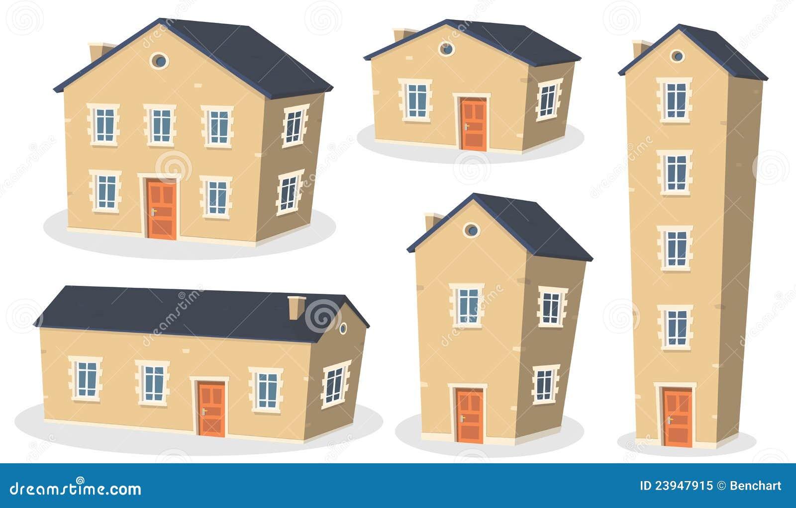 Jogo da casa dos desenhos animados foto de stock royalty for Casas en 2d