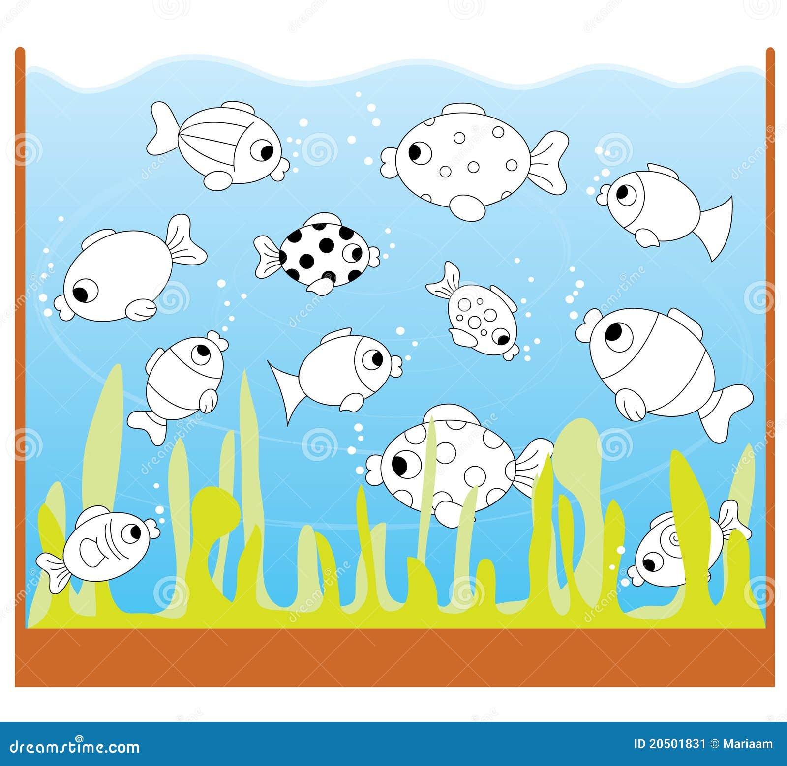 Jogo das crianças: somente dois peixes iguais