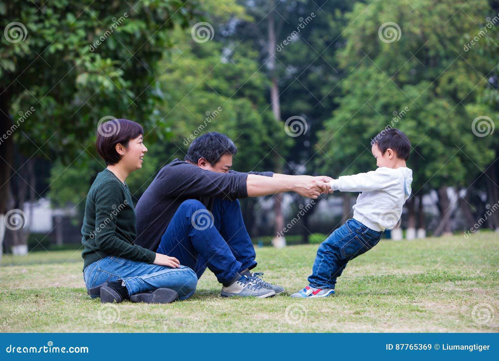 Jogo das famílias na pastagem