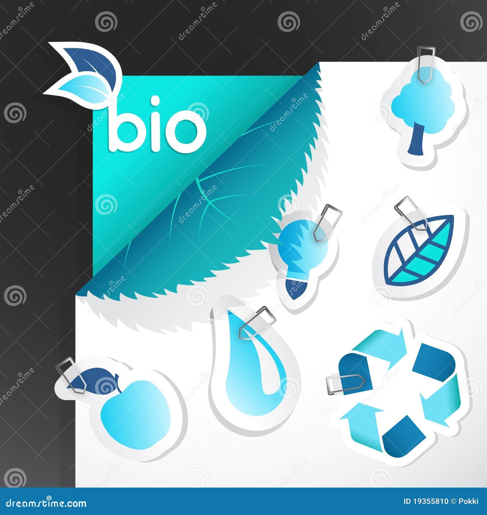 Jogo de ícones da ecologia.