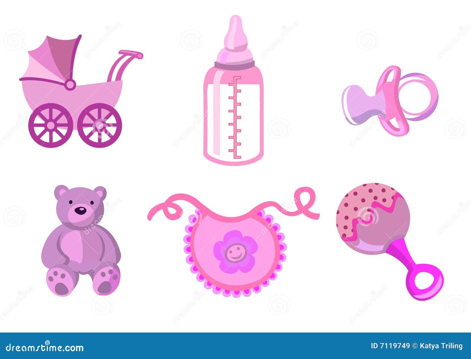 Jogo de ícones do bebê