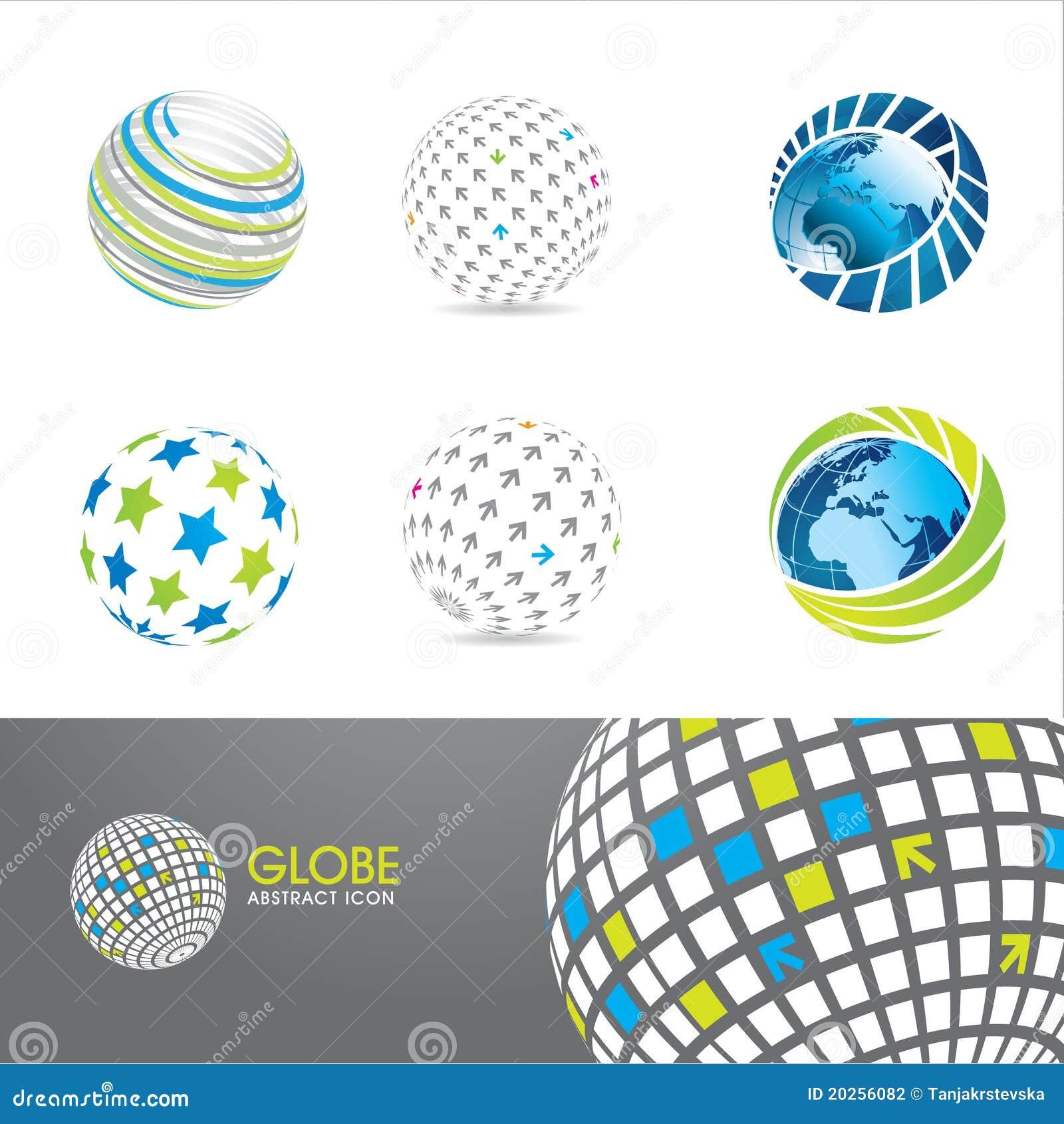 Jogo de ícones do globo