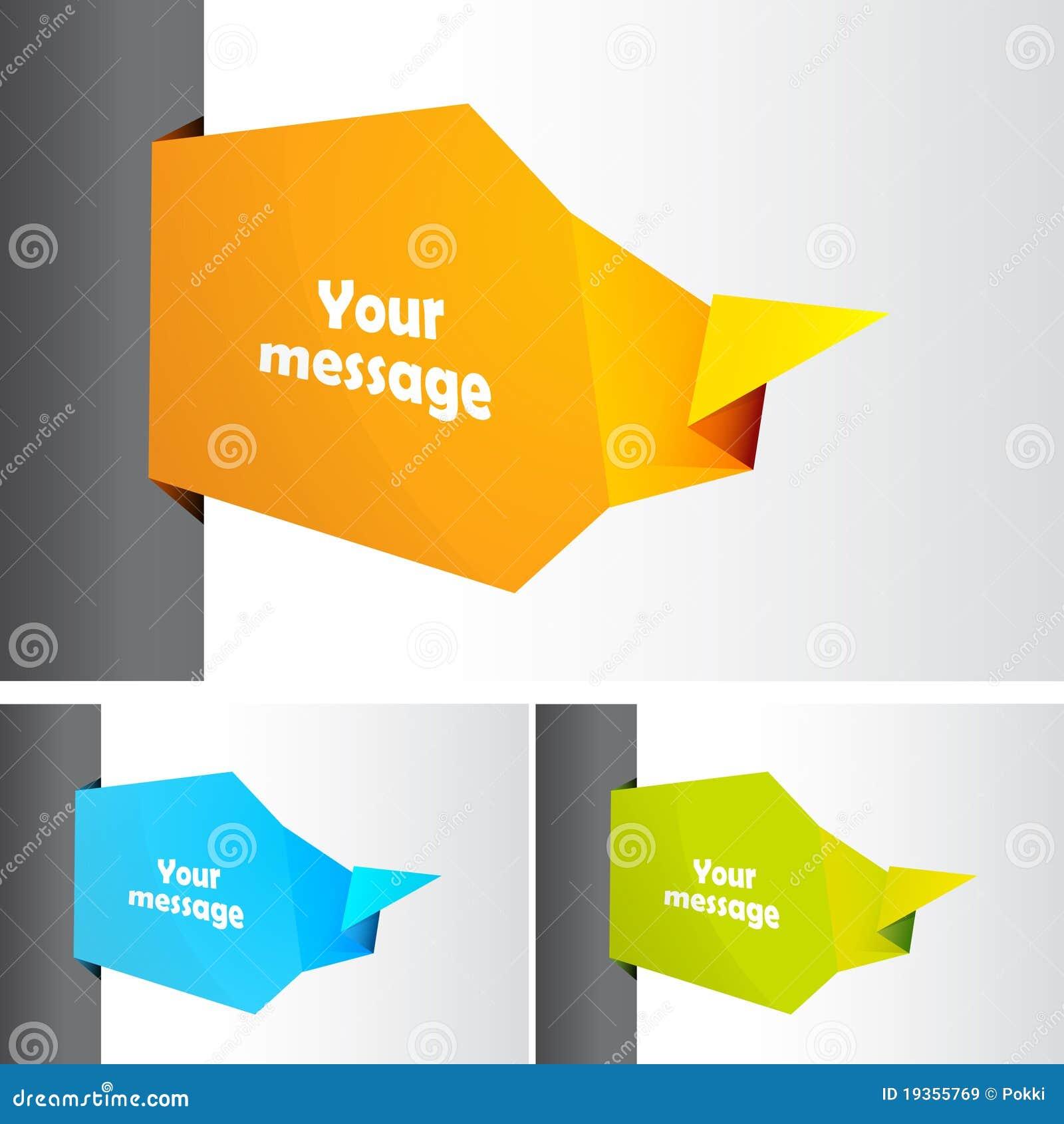 Jogo de bolhas da mensagem para seu texto.