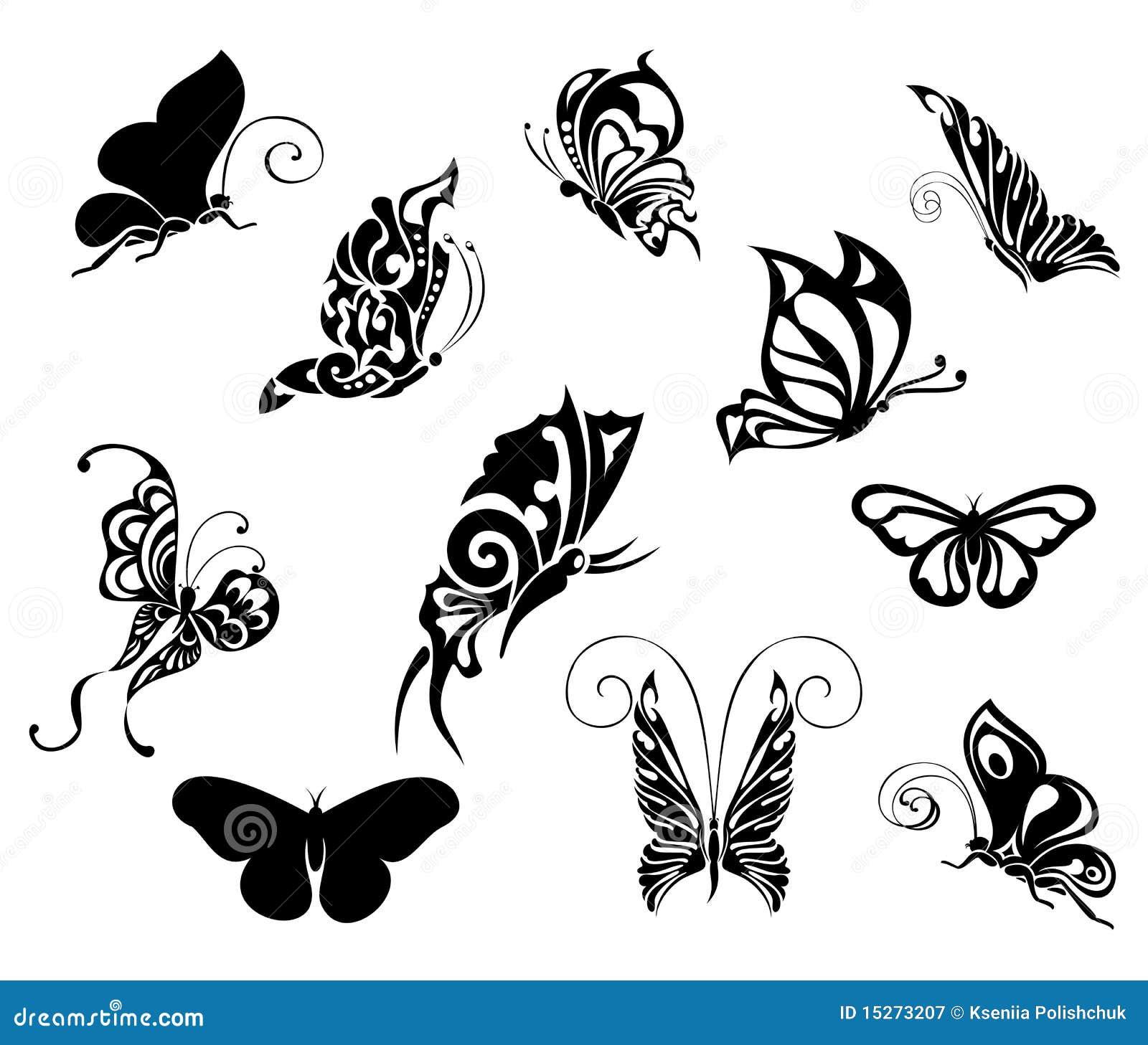 Jogo De Borboletas Do Tatuagem Projeto Do Tatuagem