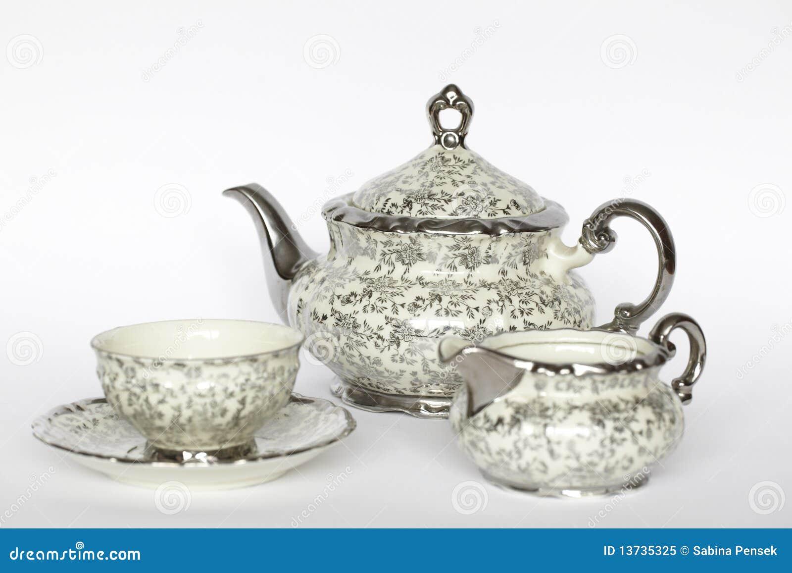 Jogo de chá da porcelana