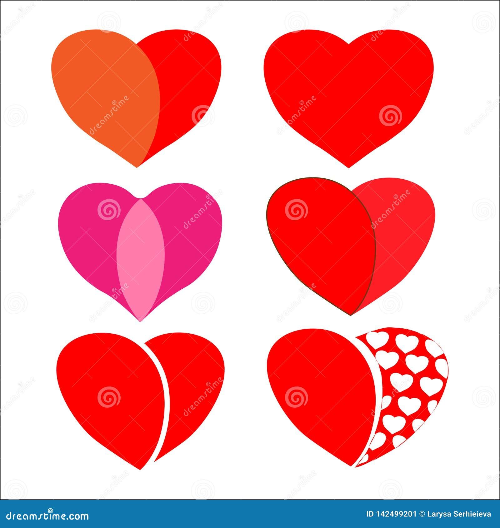 Jogo de corações vermelhos