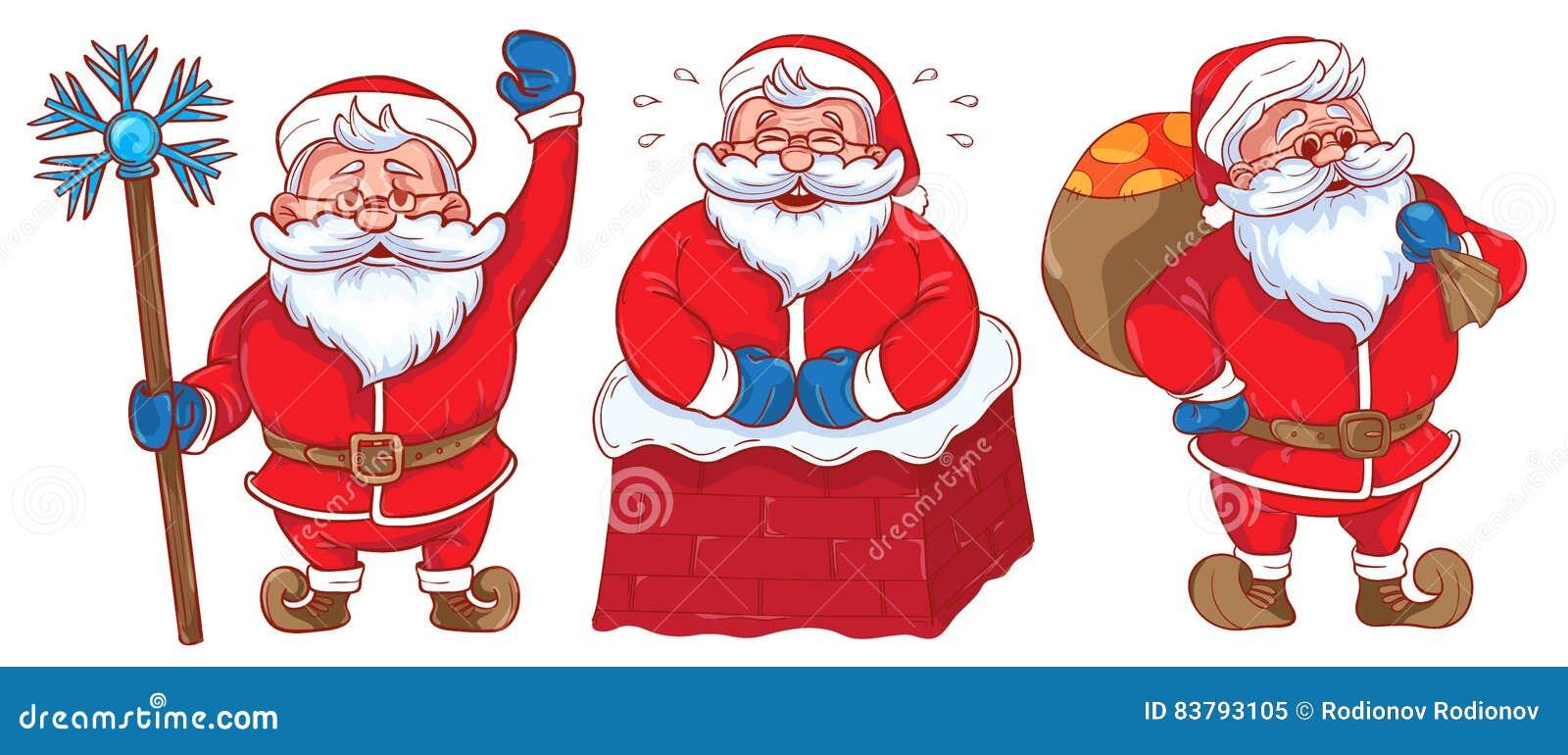 Jogo De Desenhos Animados Engracados Papai Noel Santa Claus