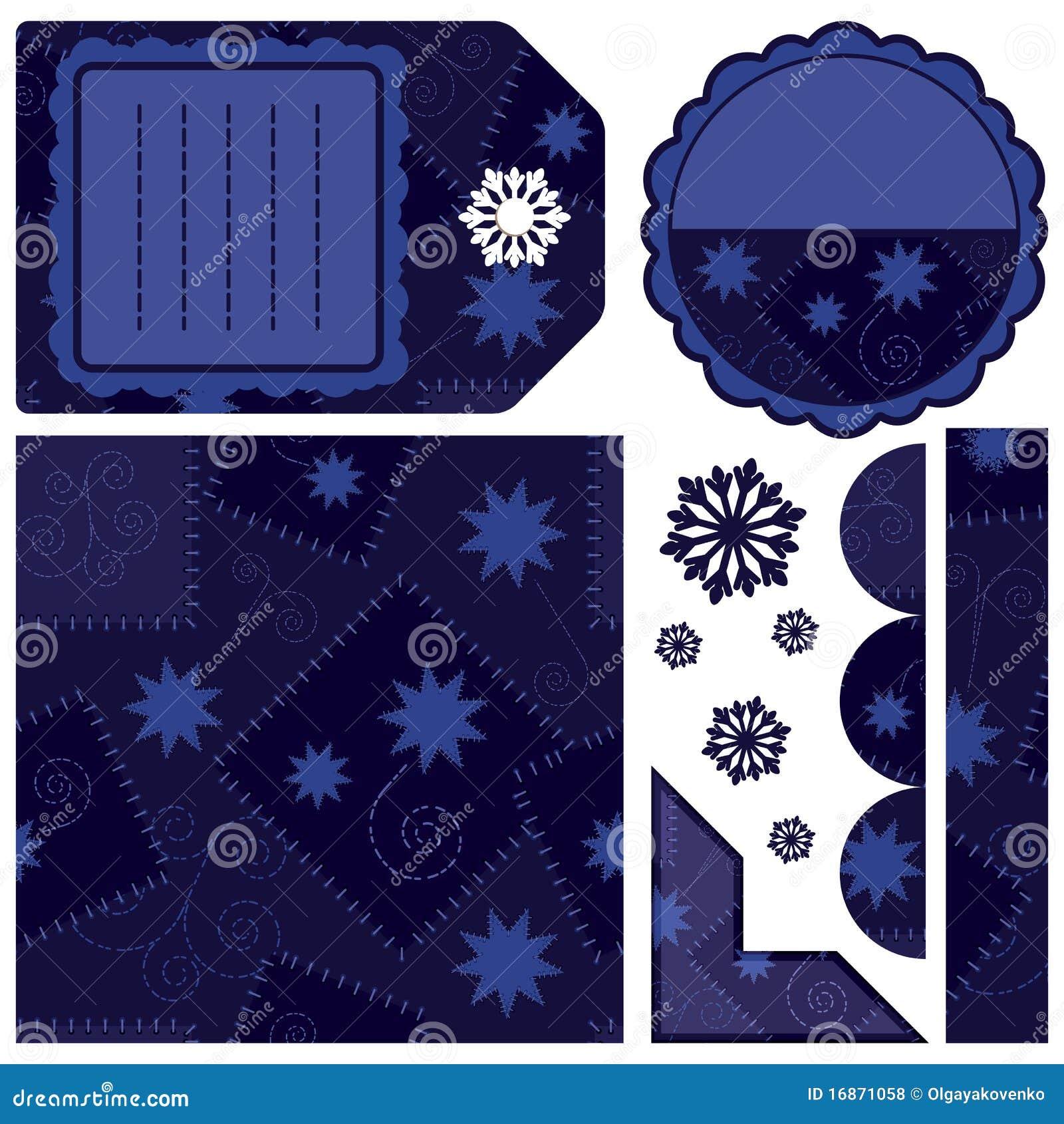 Jogo de elementos do projeto - obscuridade - azul