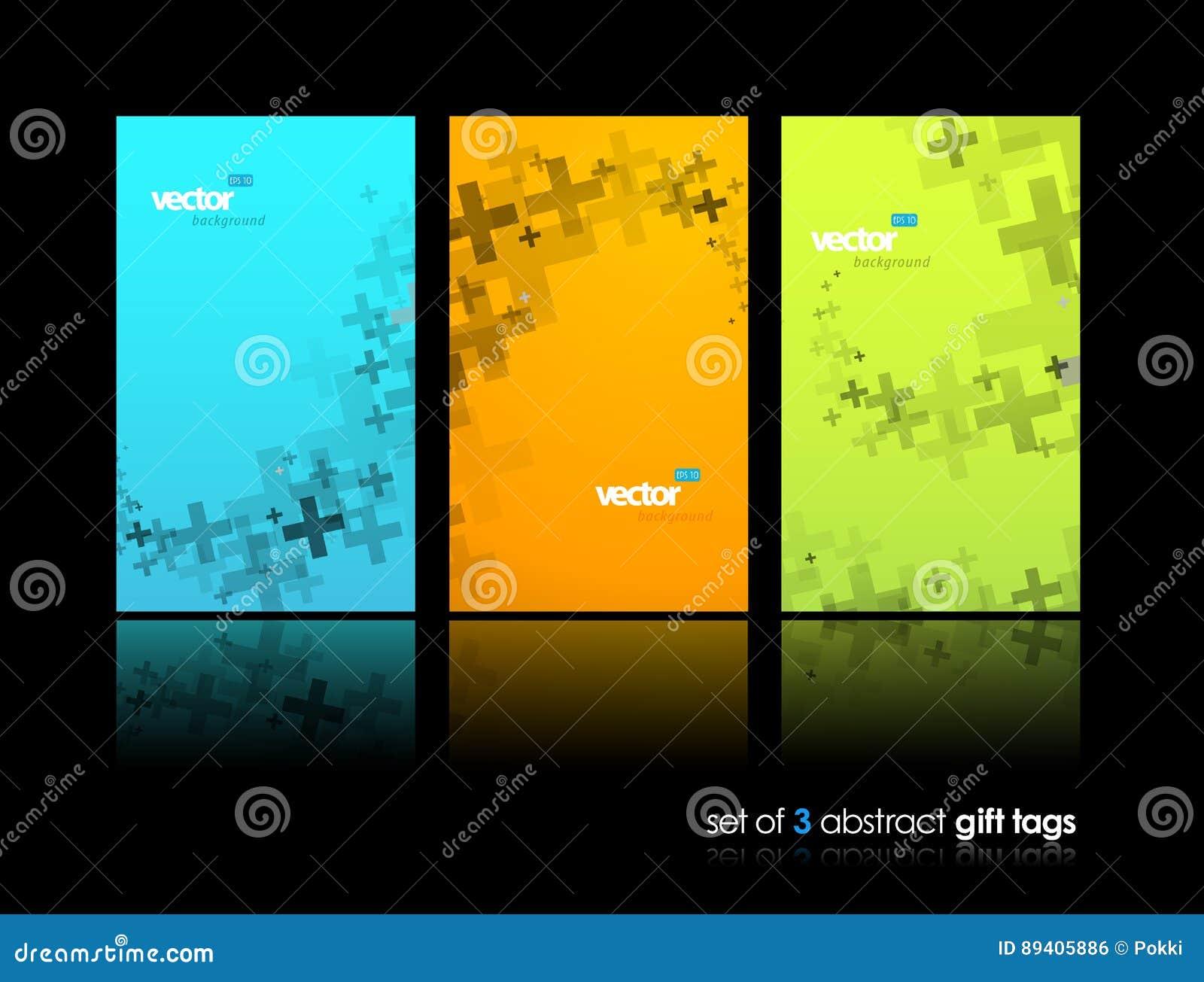 Jogo de encabeçamentos coloridos abstratos do Web