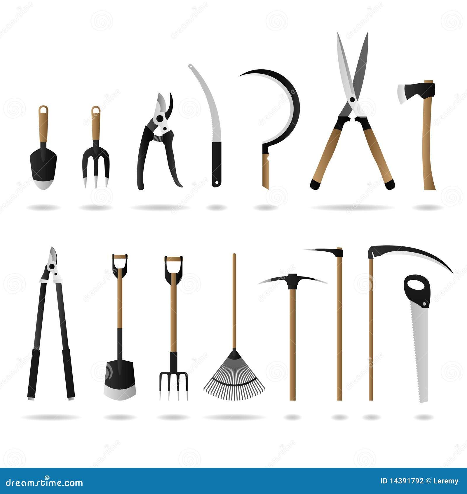 jogo de ferramentas de jardinagem fotografia de stock imagem 14391792. Black Bedroom Furniture Sets. Home Design Ideas