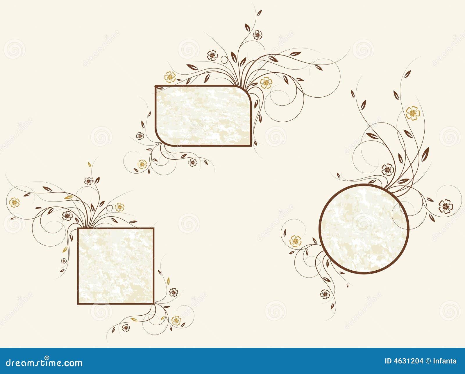 Jogo de frames florais