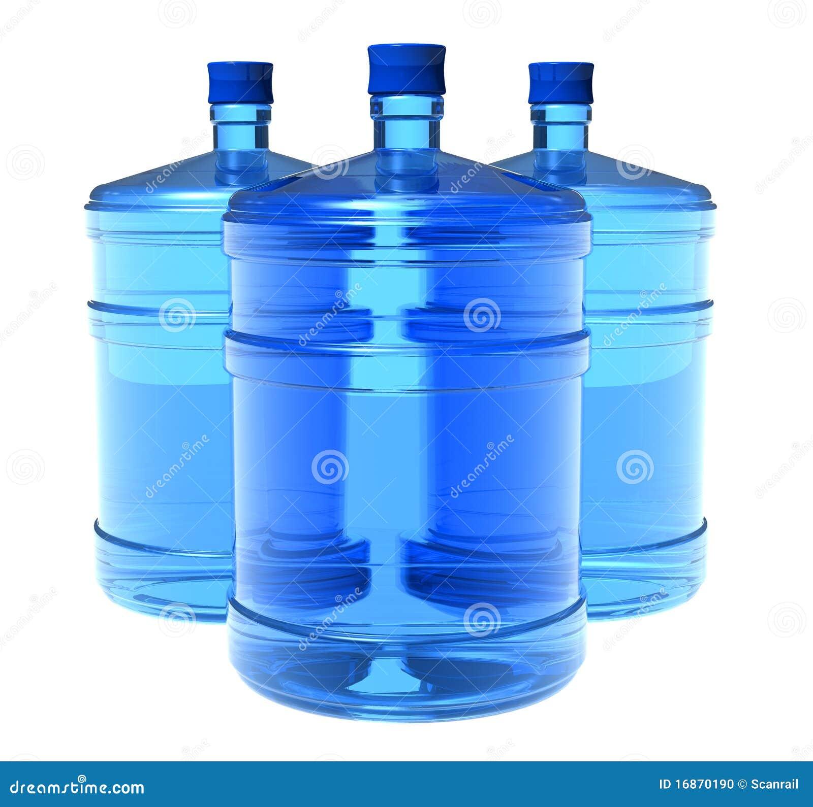 Jogo de frascos grandes da água