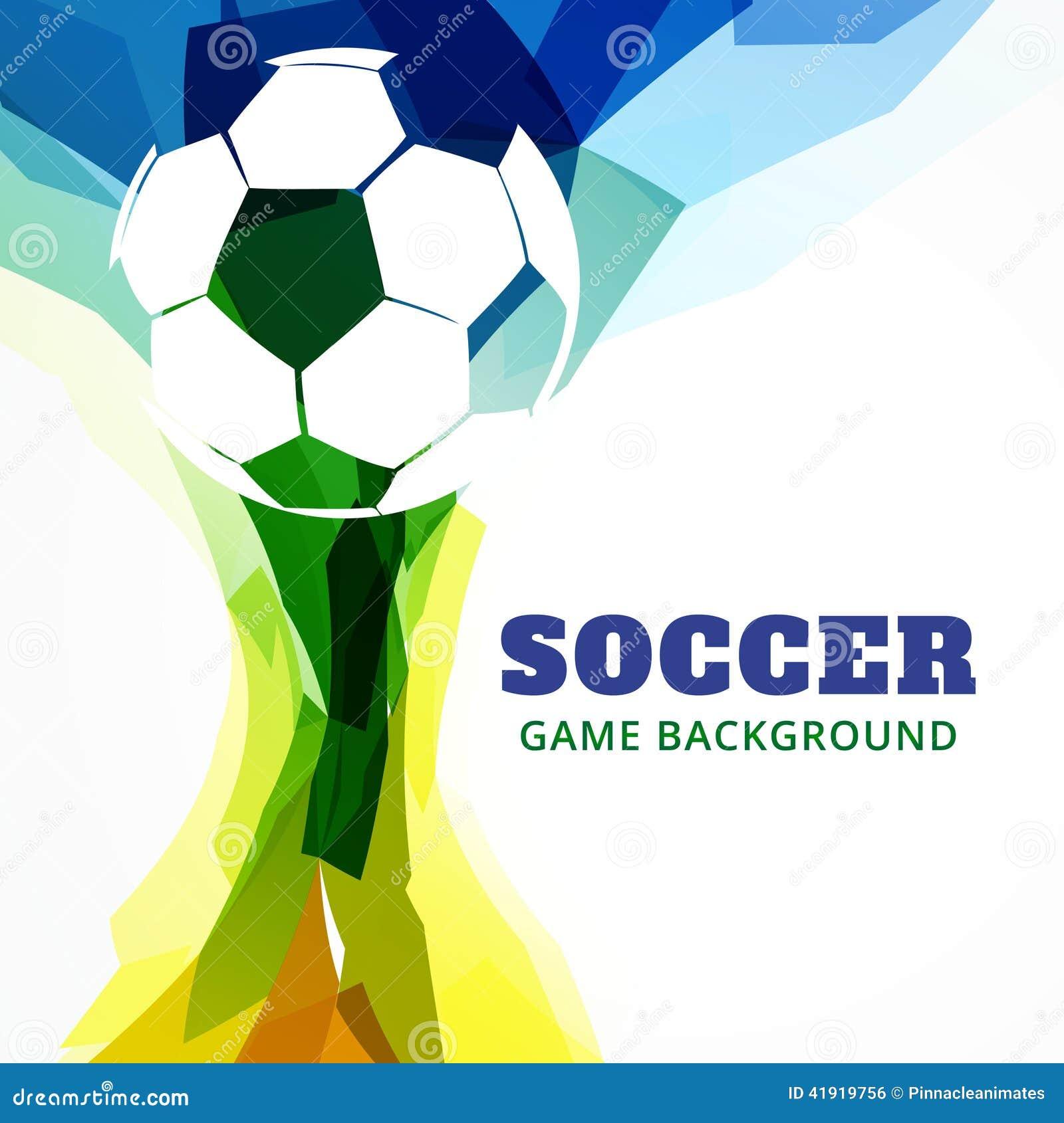 Jogo de futebol abstrato