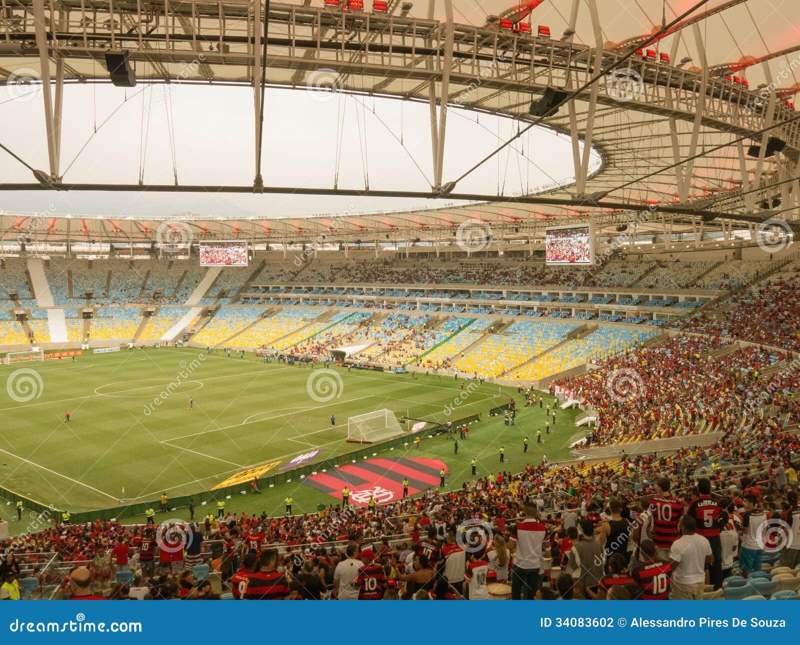 Jogo de futebol no estádio novo de Maracana - Flamengo contra Criciuma - Rio  de janeiro 5fd381128d868