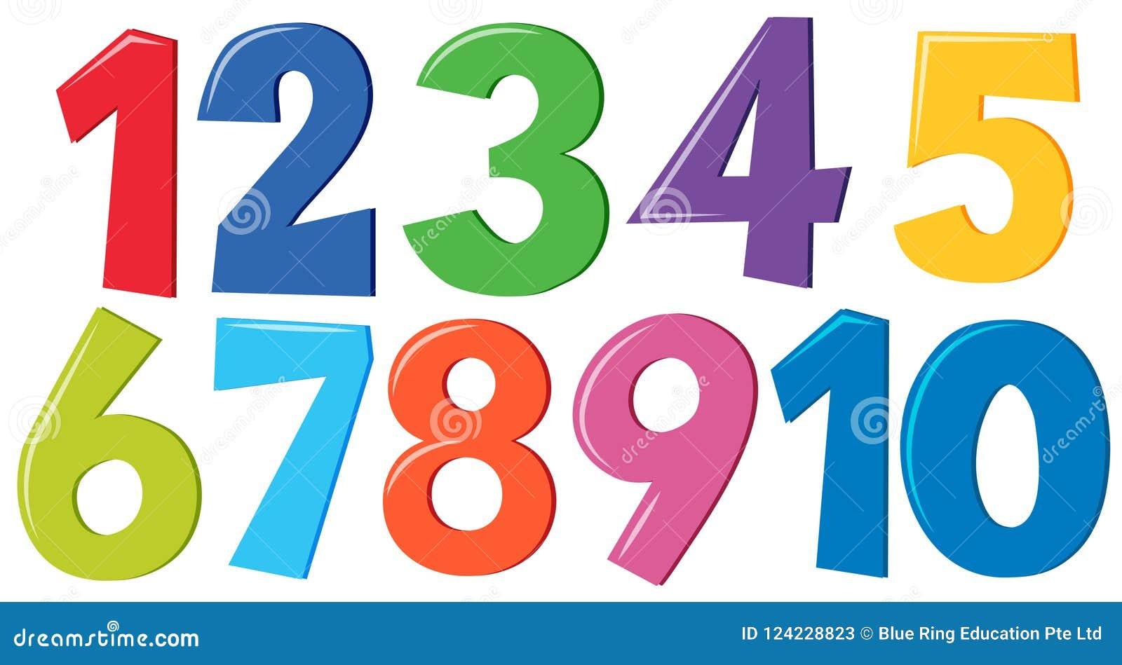 Jogo de números coloridos
