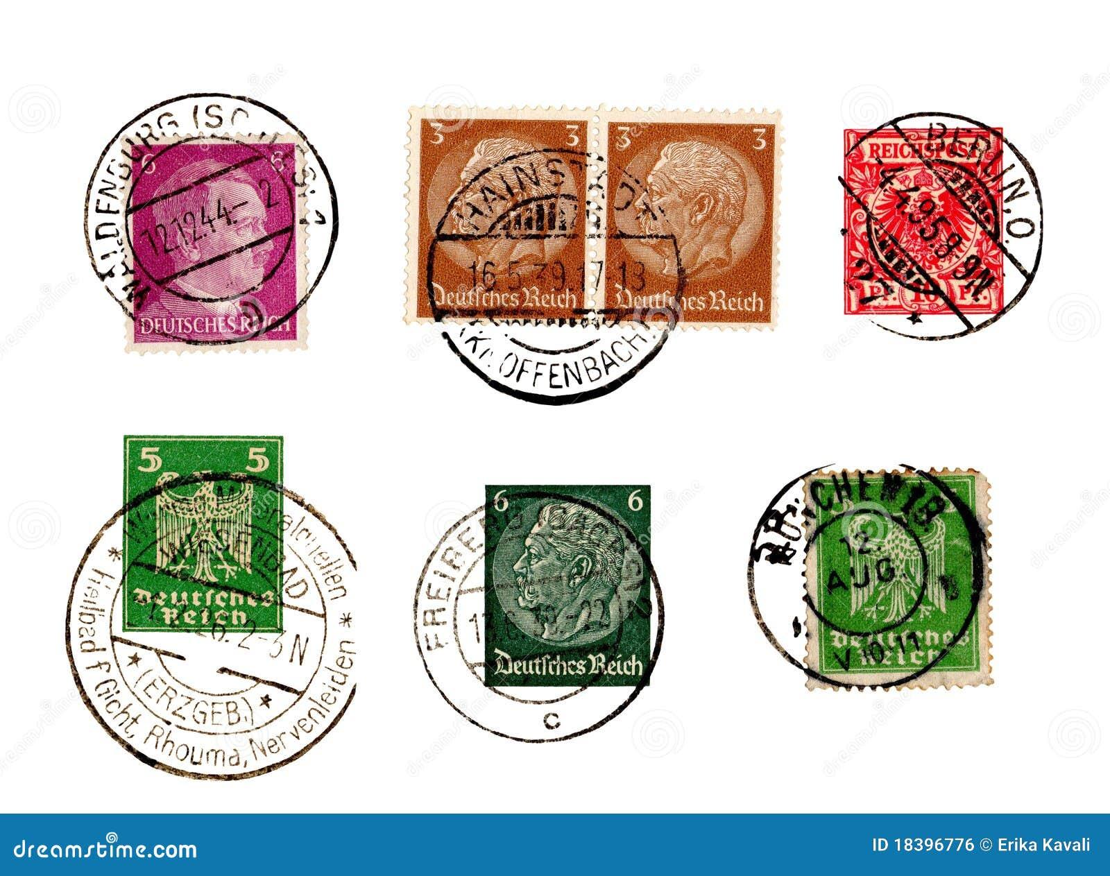 Jogo de selos alemães do Reich