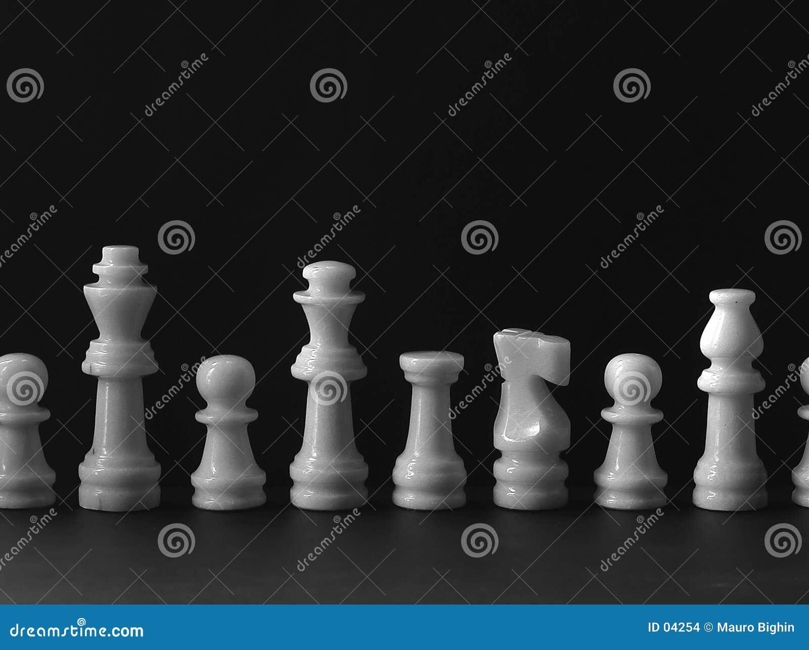 Jogo de xadrez branco