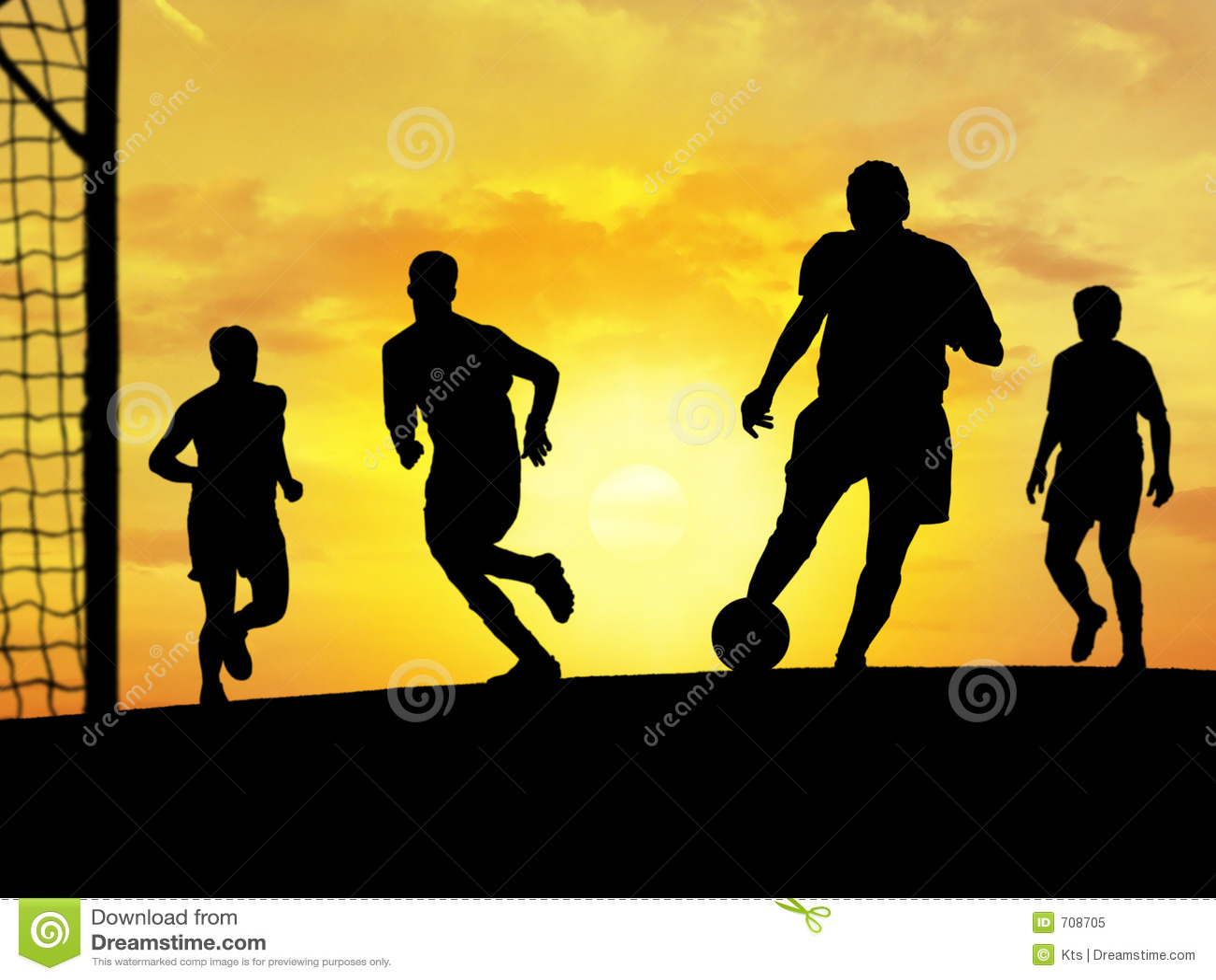 Jogo do futebol (por do sol)