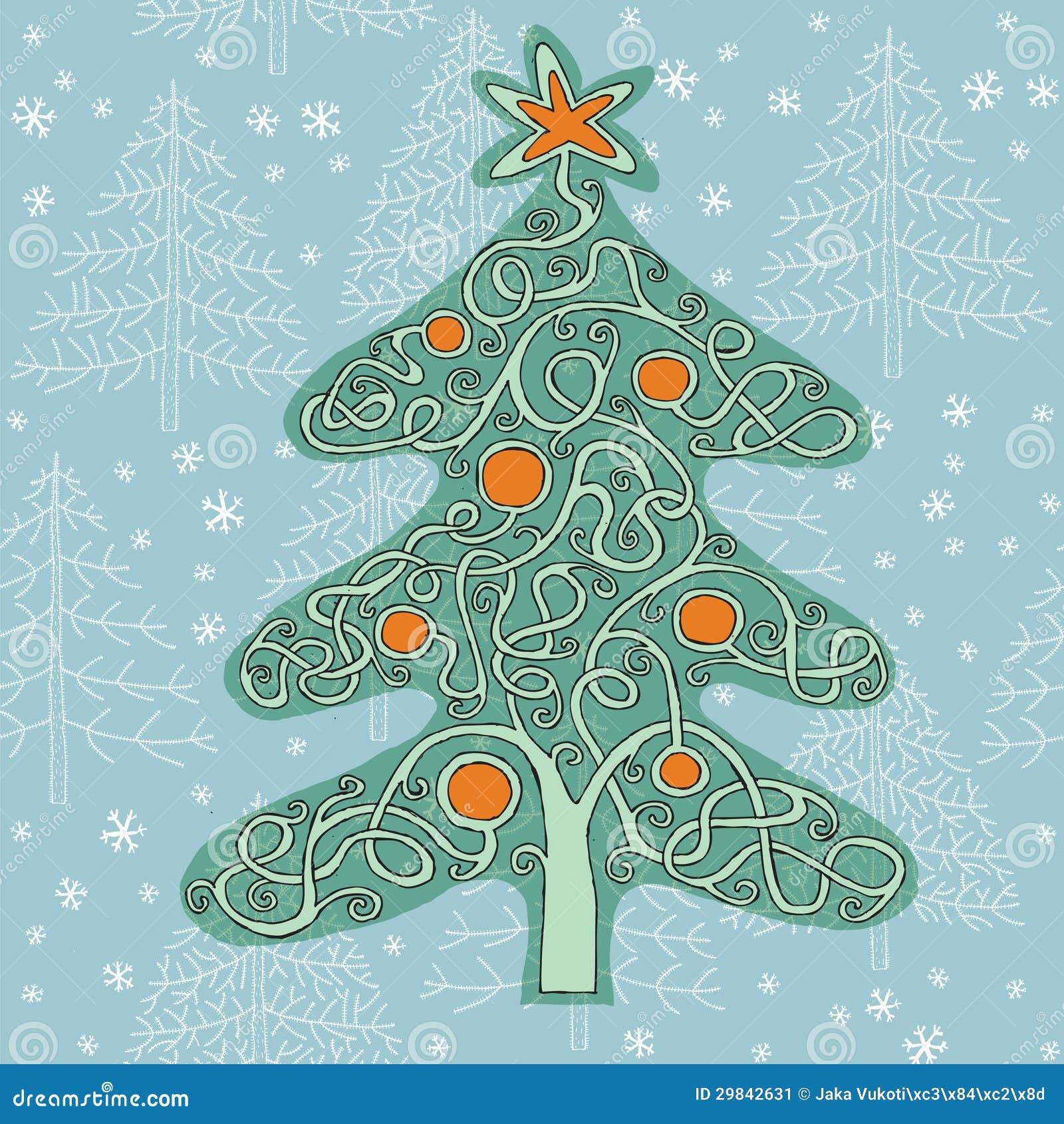 Jogo do labirinto da forma da árvore de Natal