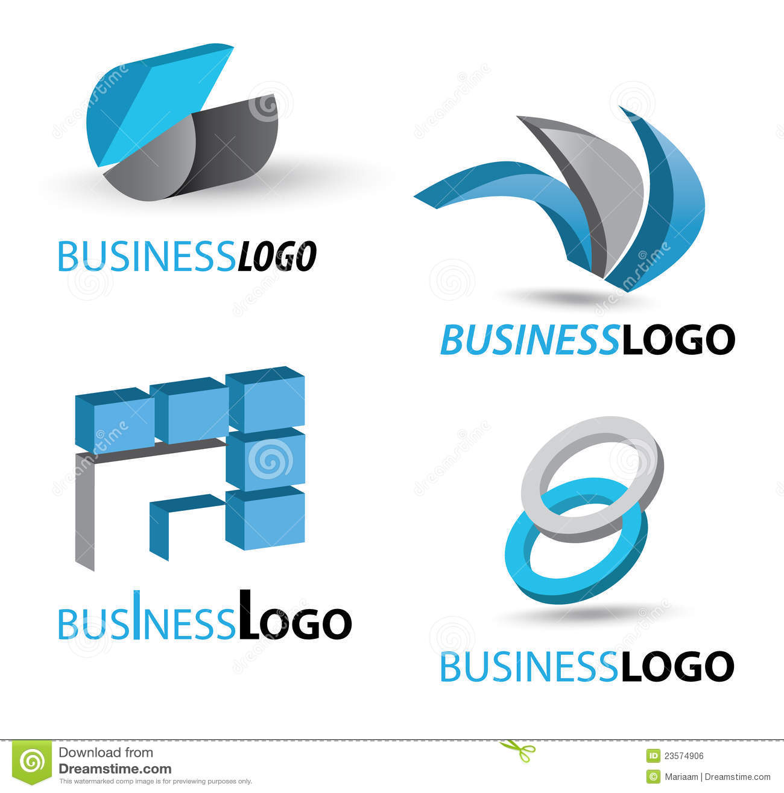 Jogo do logotipo do negócio