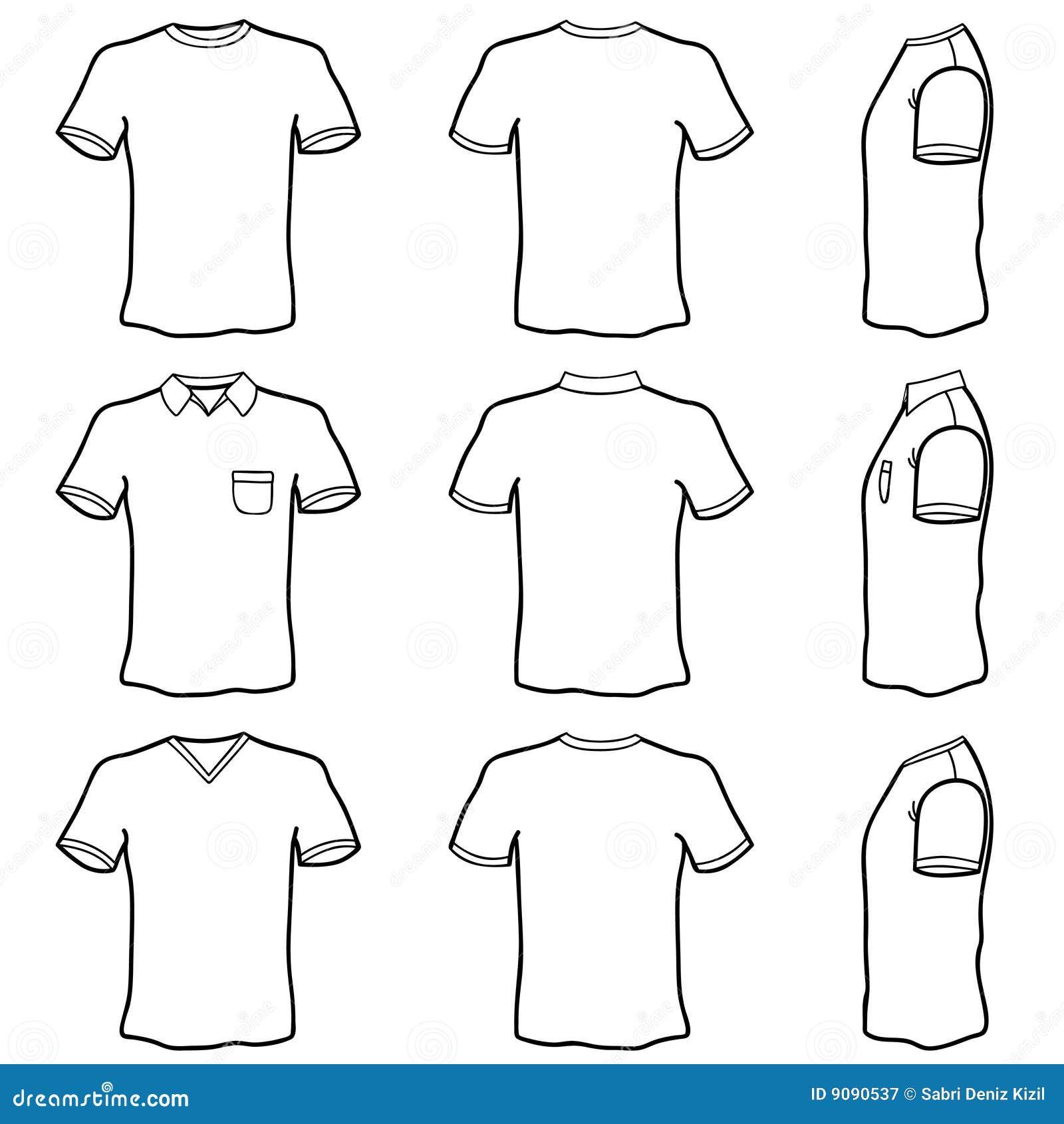 Jogo Do Molde Da Camisa De T Fotografia De Stock Royalty