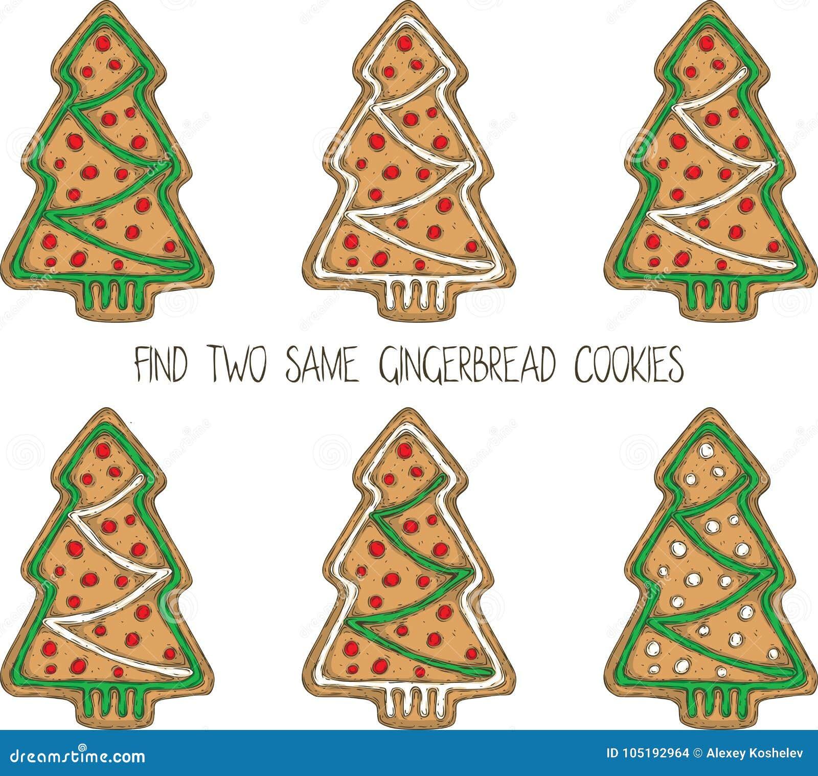 Jogo do Natal com cookies do pão-de-espécie