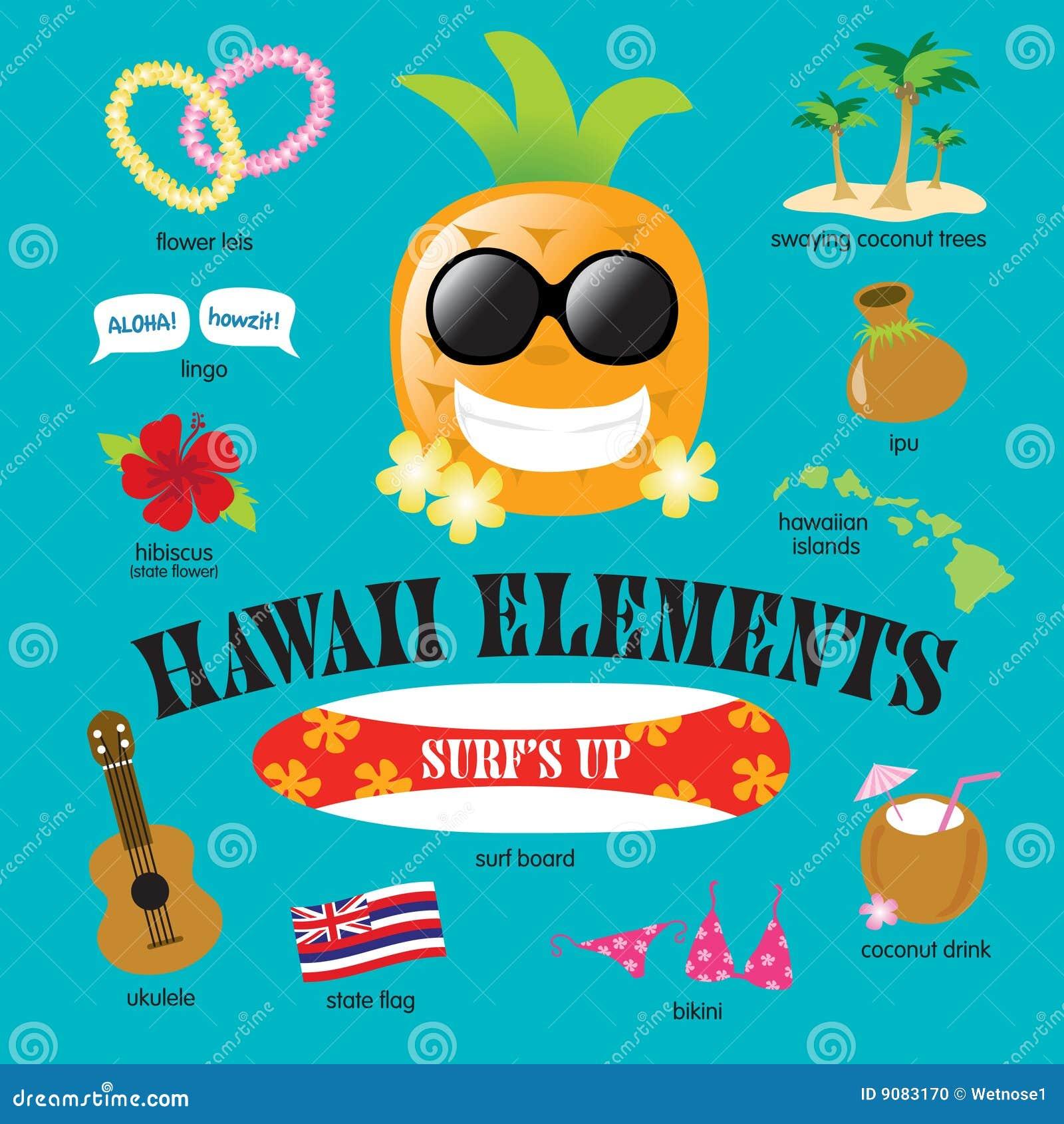Jogo do vetor dos elementos de Havaí