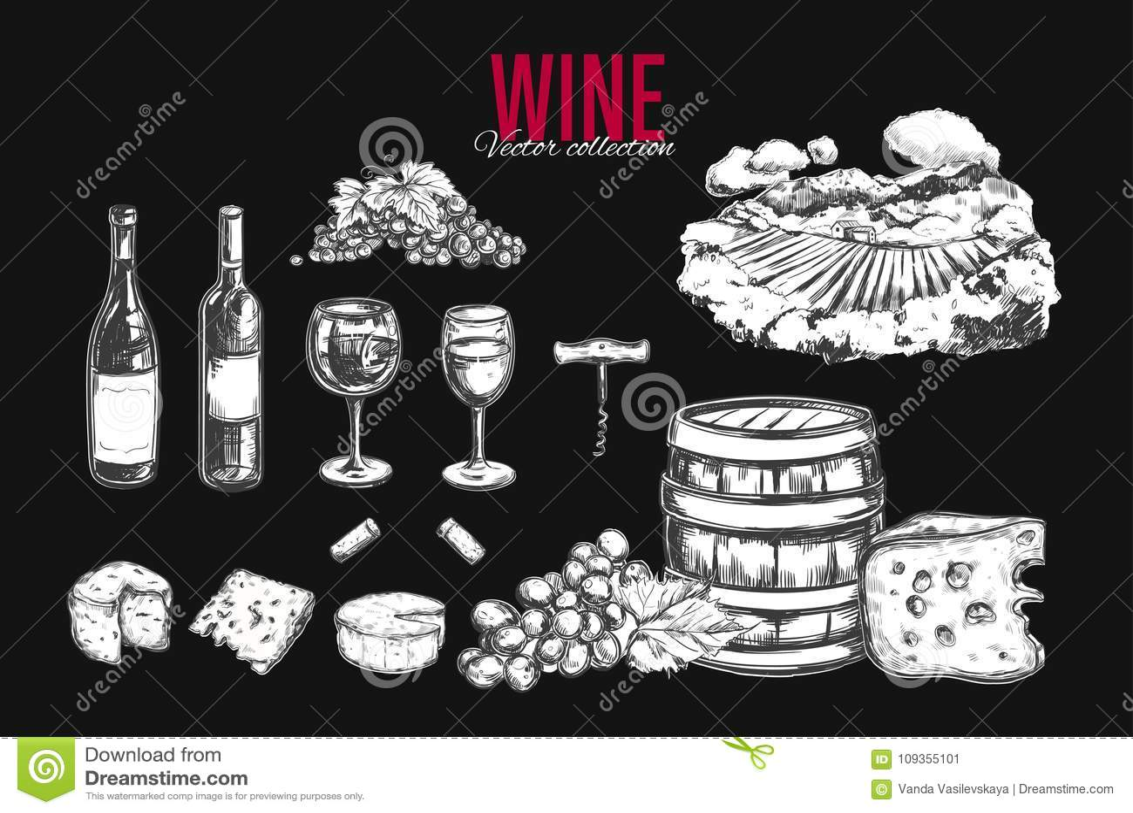 Jogo do vinho Vetor