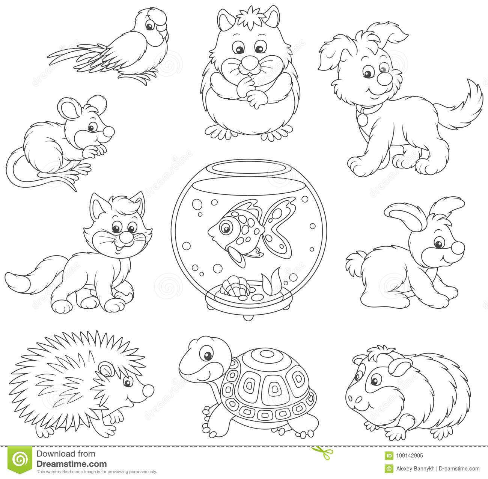 Jogo Dos Animais De Estimacao Ilustracao Do Vetor Ilustracao De