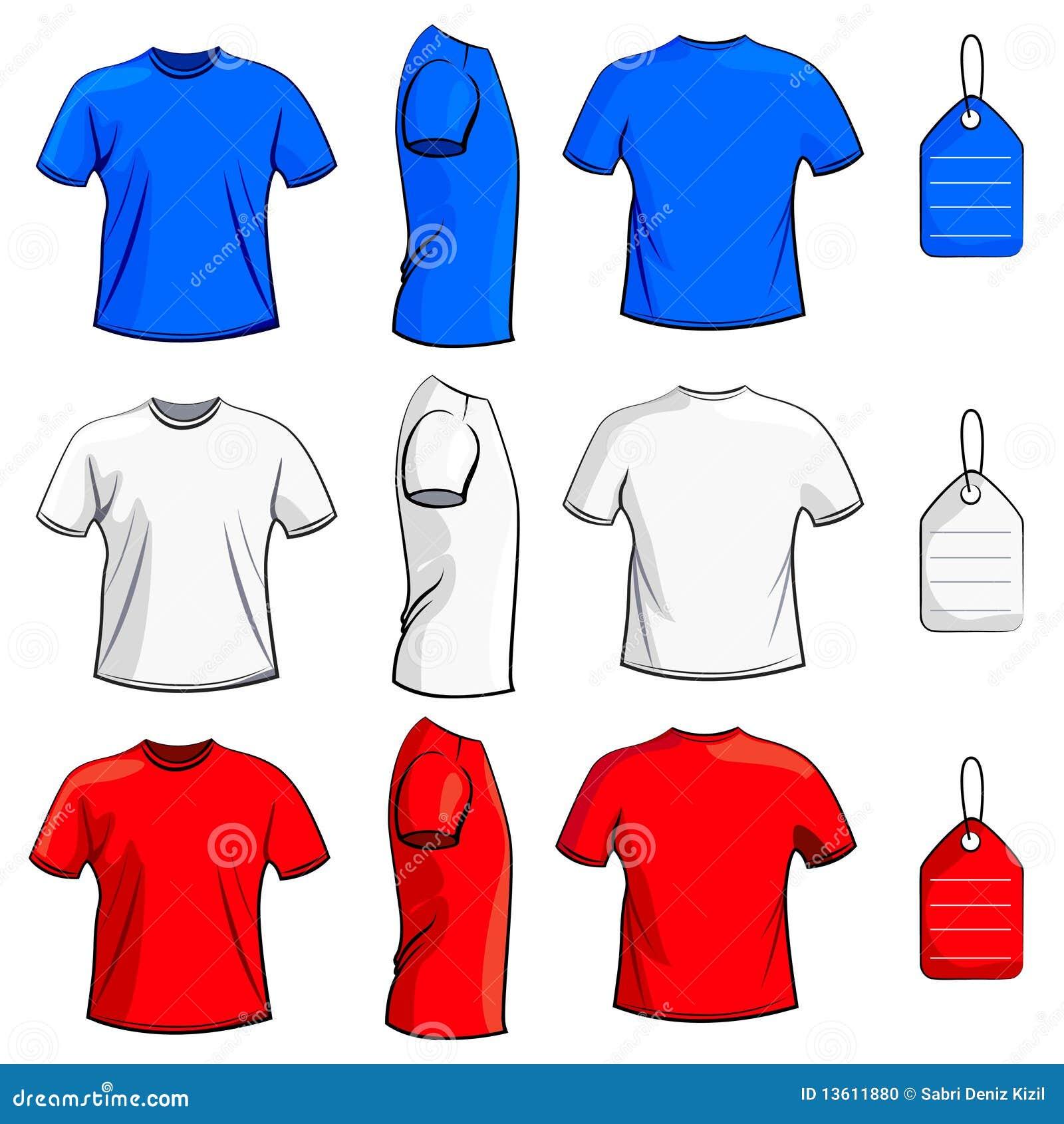 Jogo em branco da camisa de t
