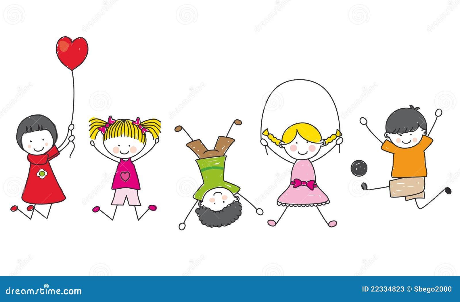 Jogo feliz dos miúdos