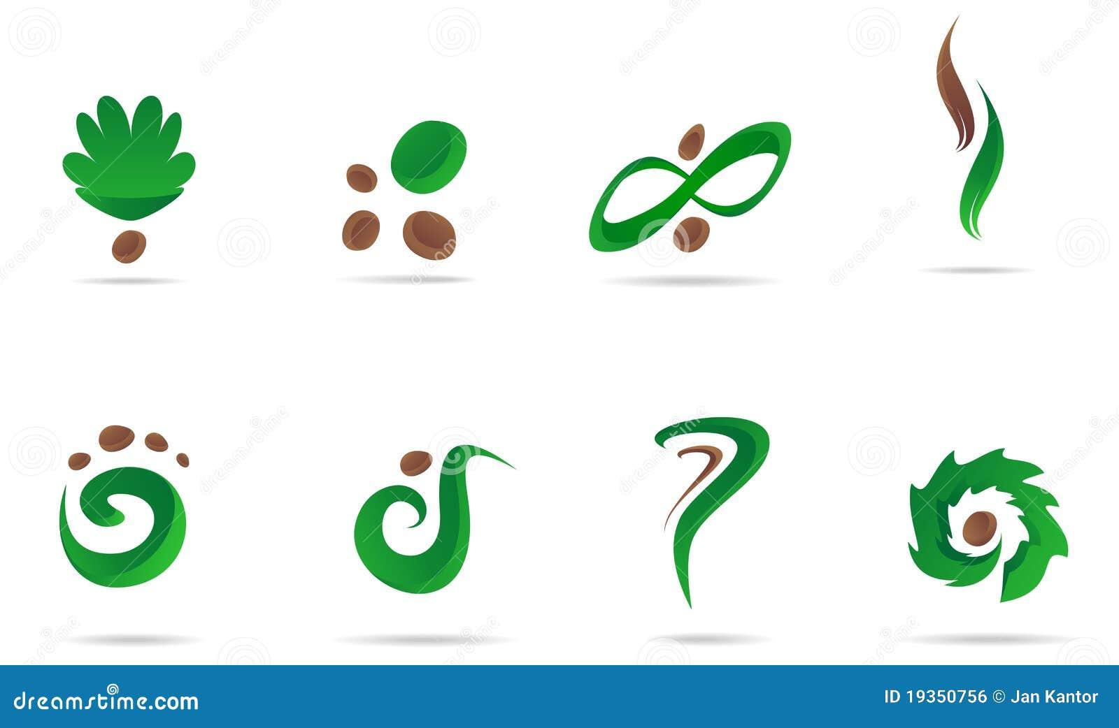 Jogo verde do ícone do logotipo