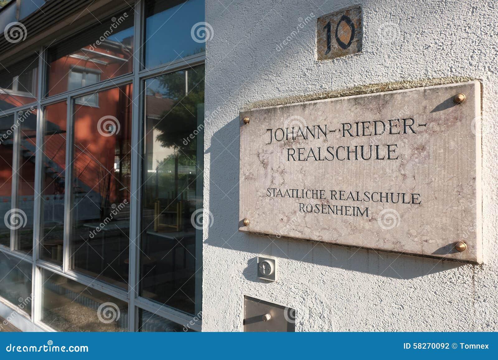 Johann rieder realschule rosenheim