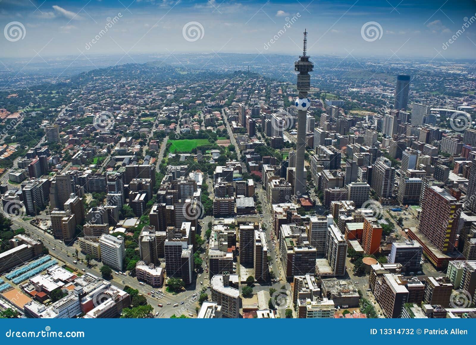 Johannesburg CBD - Vue aérienne