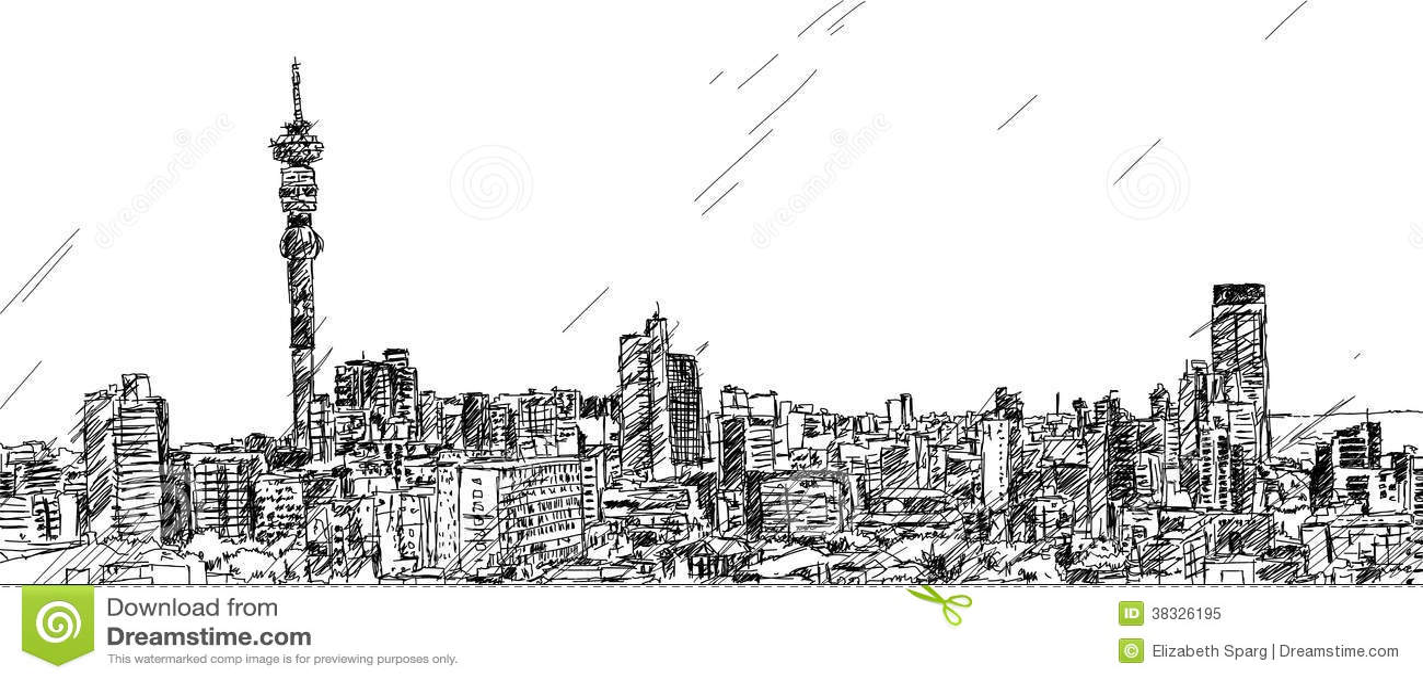 Johannesburg skyline stock vector illustration of white 38326195 johannesburg skyline thecheapjerseys Image collections