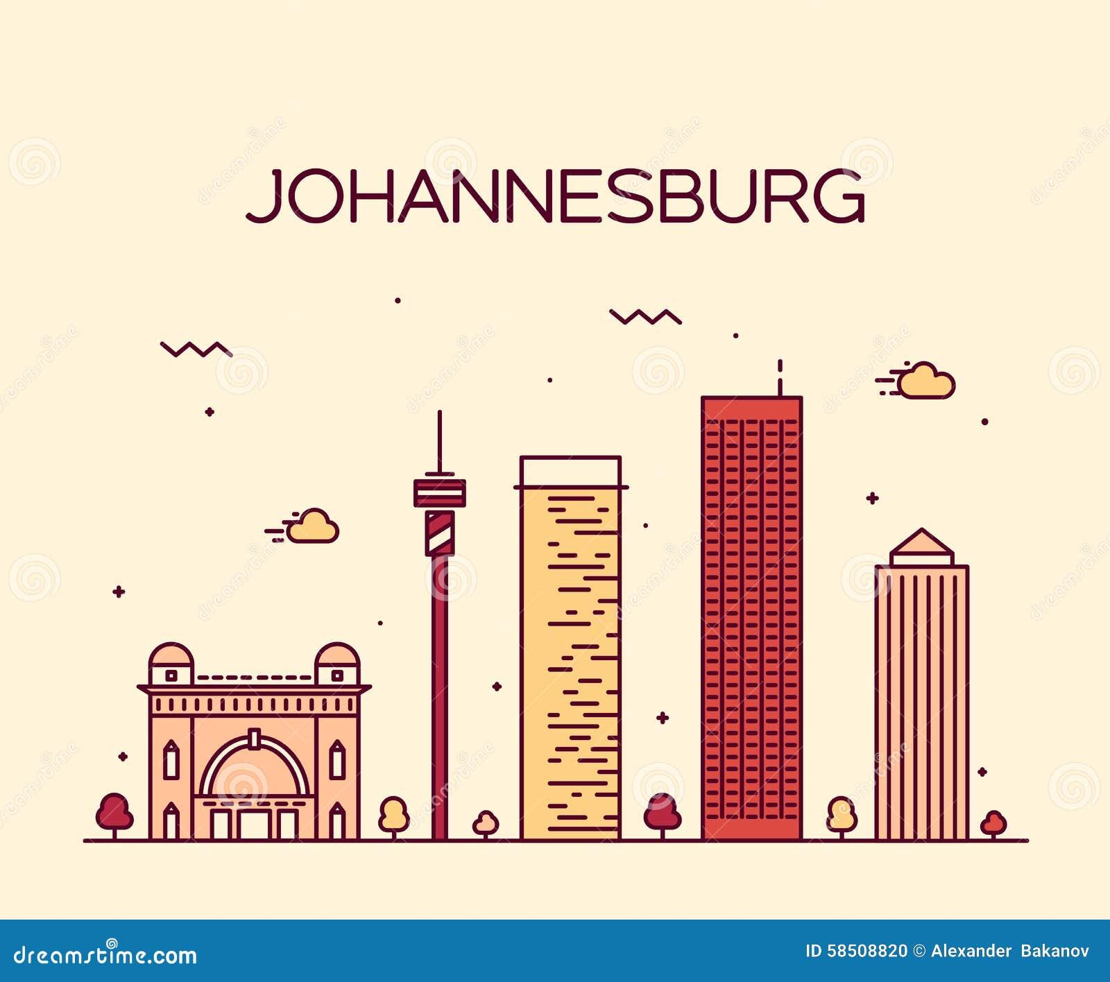 Johannesburg skyline cartoon vector cartoondealer 38326195 thecheapjerseys Image collections