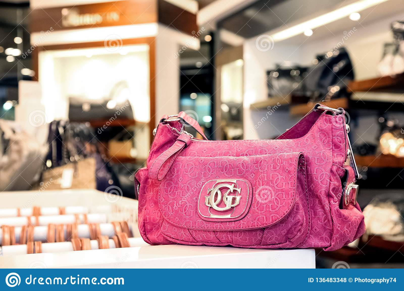 on wholesale run shoes brand new Handbags In An Up-Market Fashion Clothing Retail Store ...