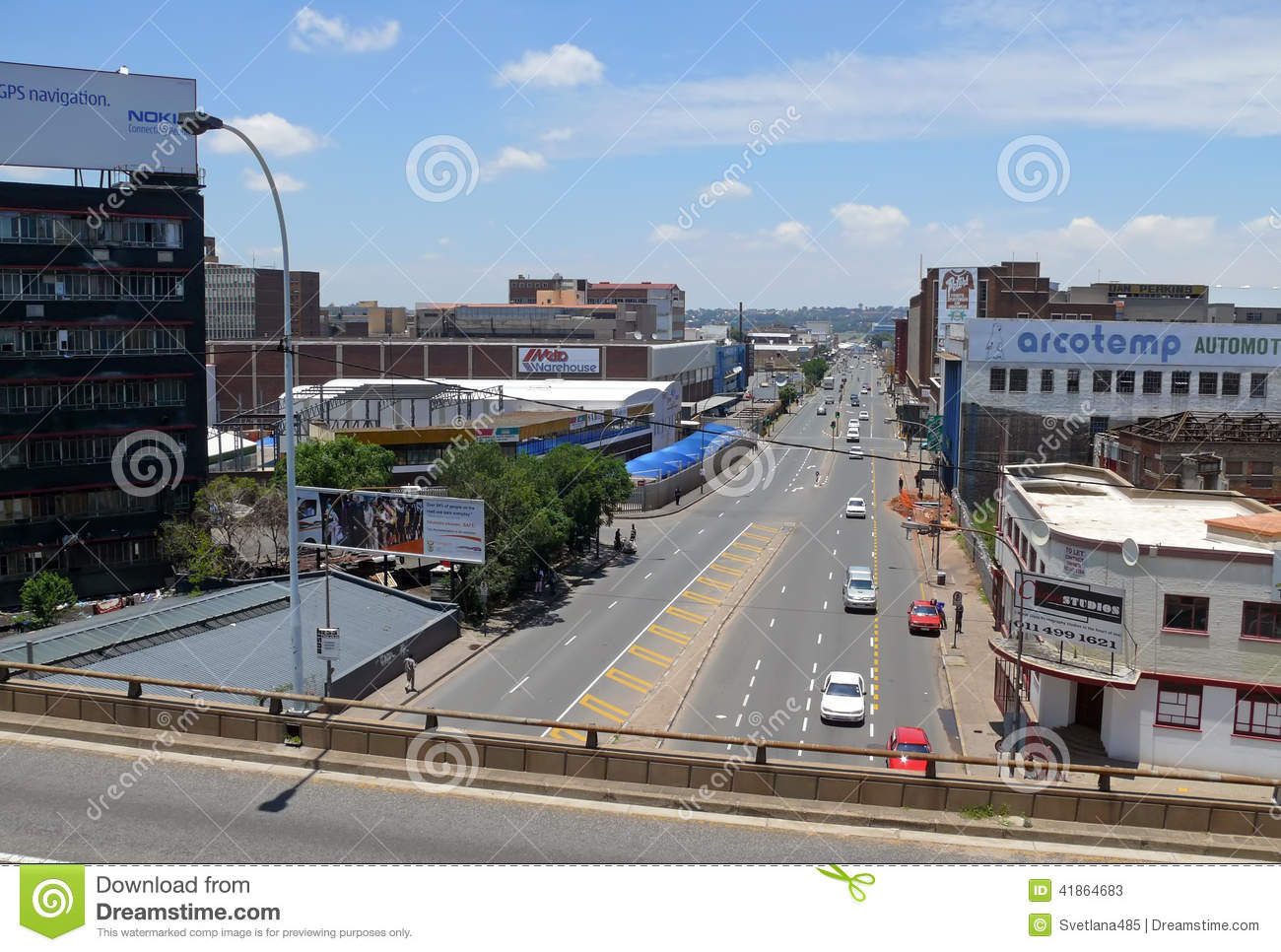 Johannesburg, South Africa - 13 December 2008: road with the moving of her car .