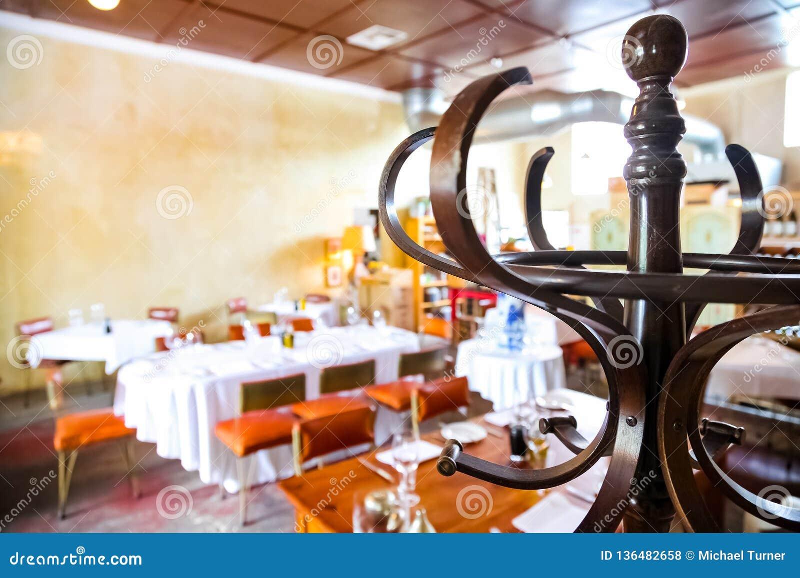 Interior Of Retro Bistro Restaurant In Up-market Area Editorial ...