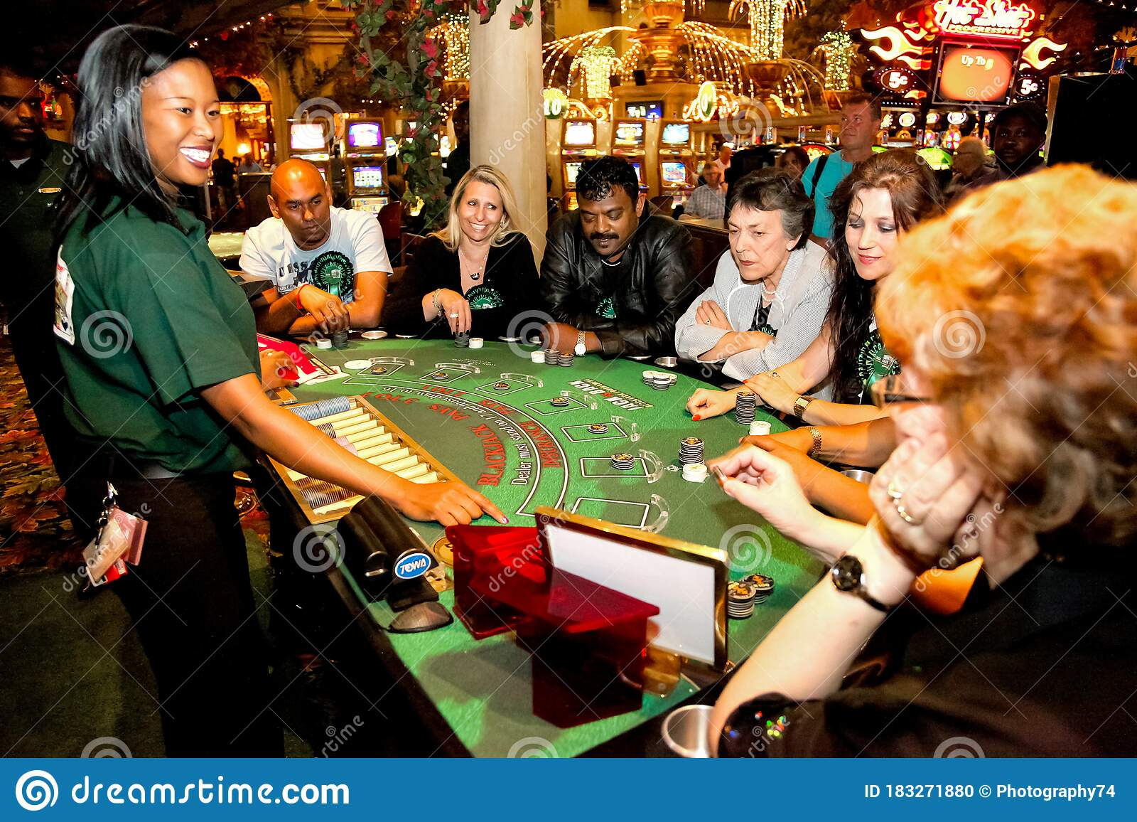 Diverse People Playing Blackjack Card Game At Casino Table Editorial Image Image Of Dealing Lucky 183271880