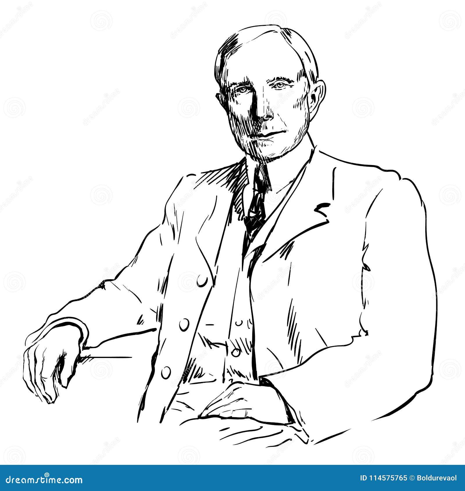 john davison rockefeller editorial image illustration of white